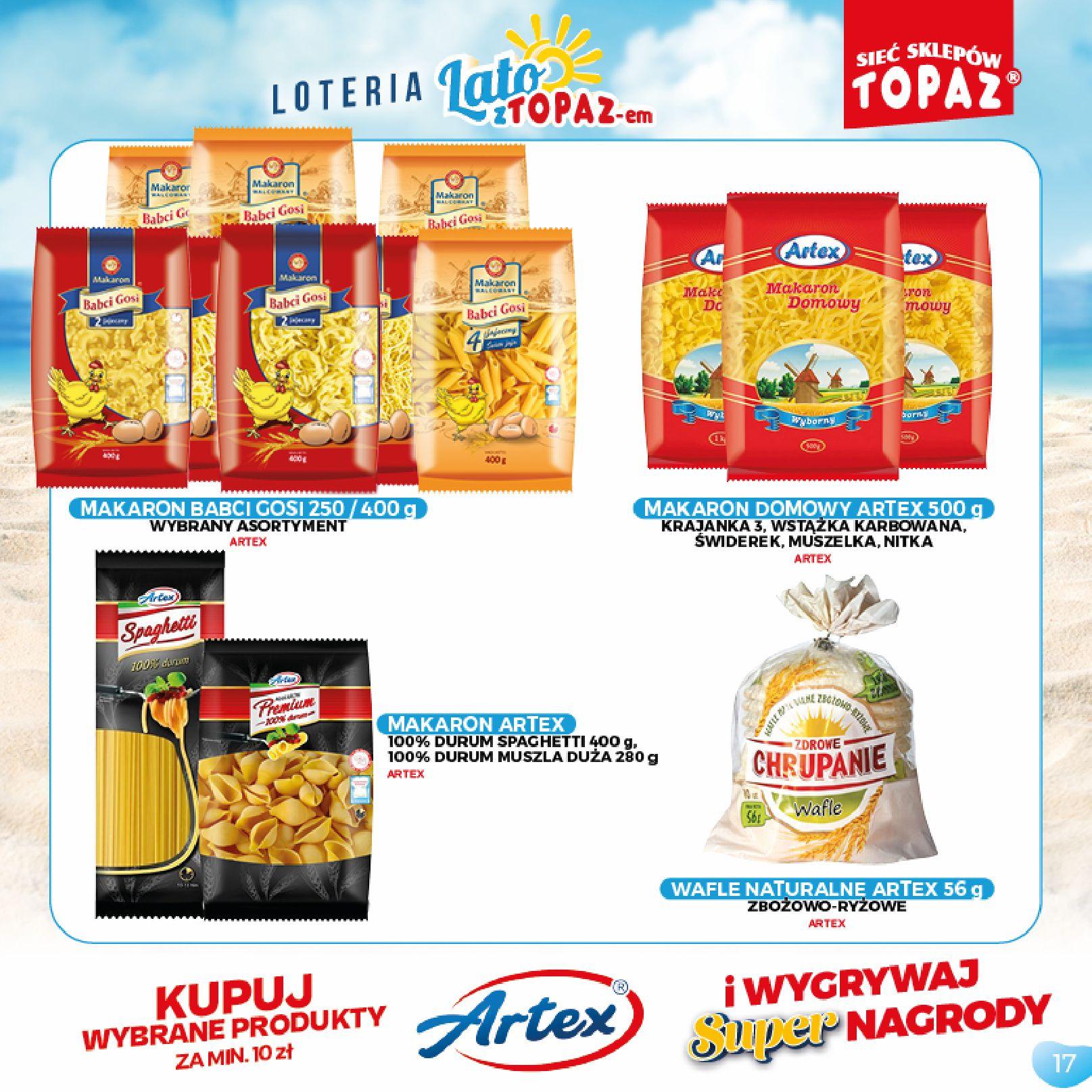 Gazetka TOPAZ: Gazetka TOPAZ - Loteria 2021-07-05 page-17