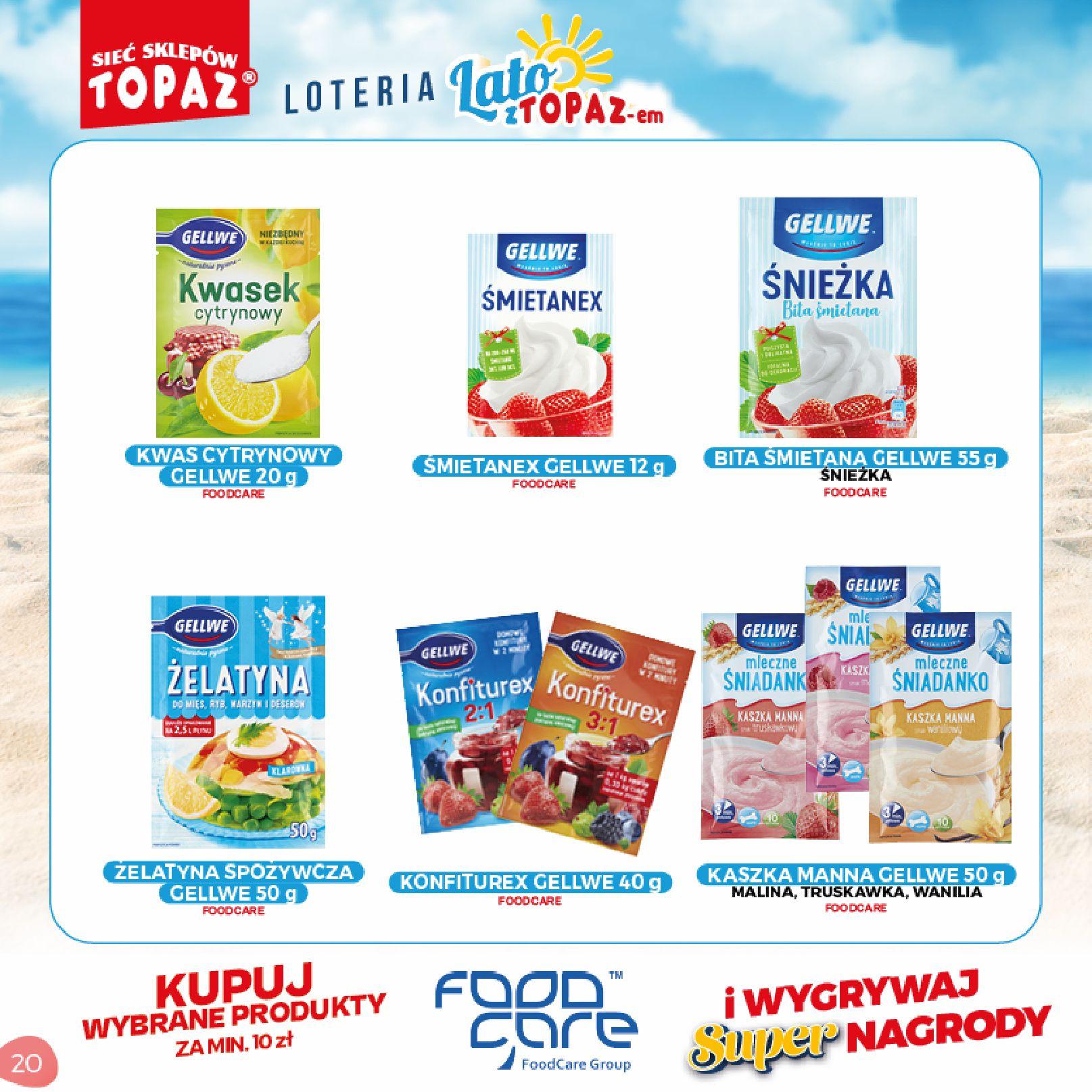 Gazetka TOPAZ: Gazetka TOPAZ - Loteria 2021-07-05 page-20