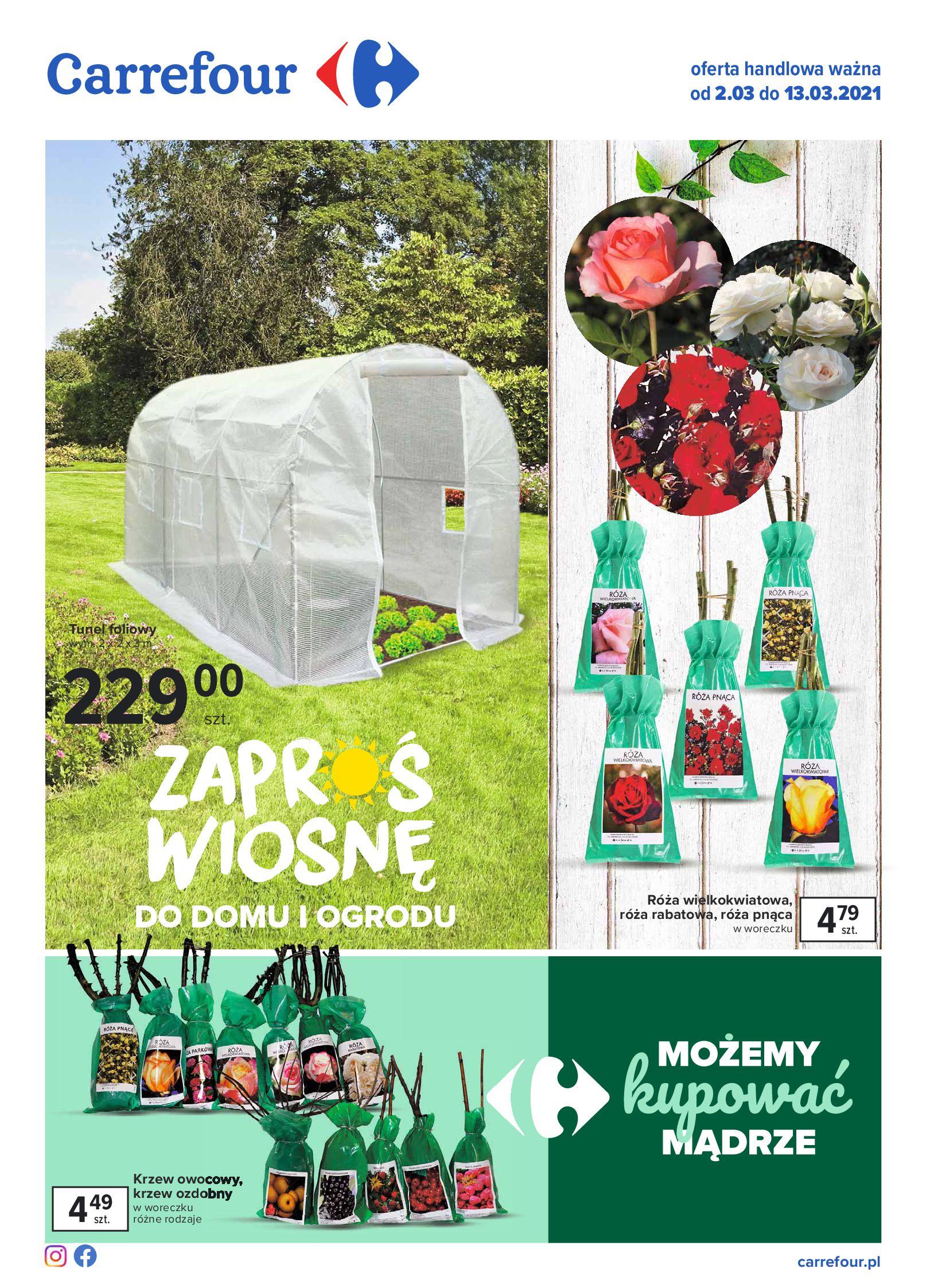 Carrefour:  Zaproś wiosnę do domu i ogrodu 01.03.2021