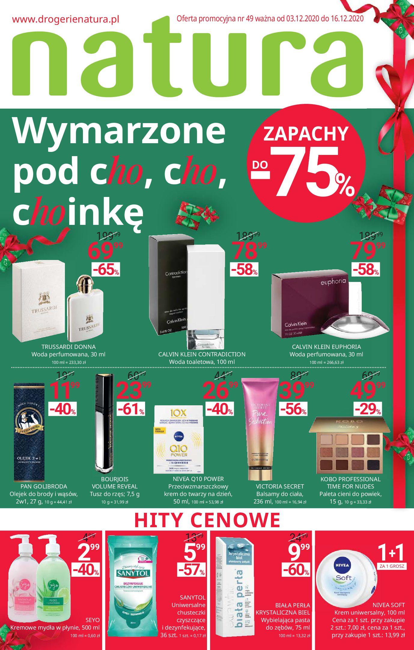Drogerie Natura:  Gazetka promocyjna 02.12.2020