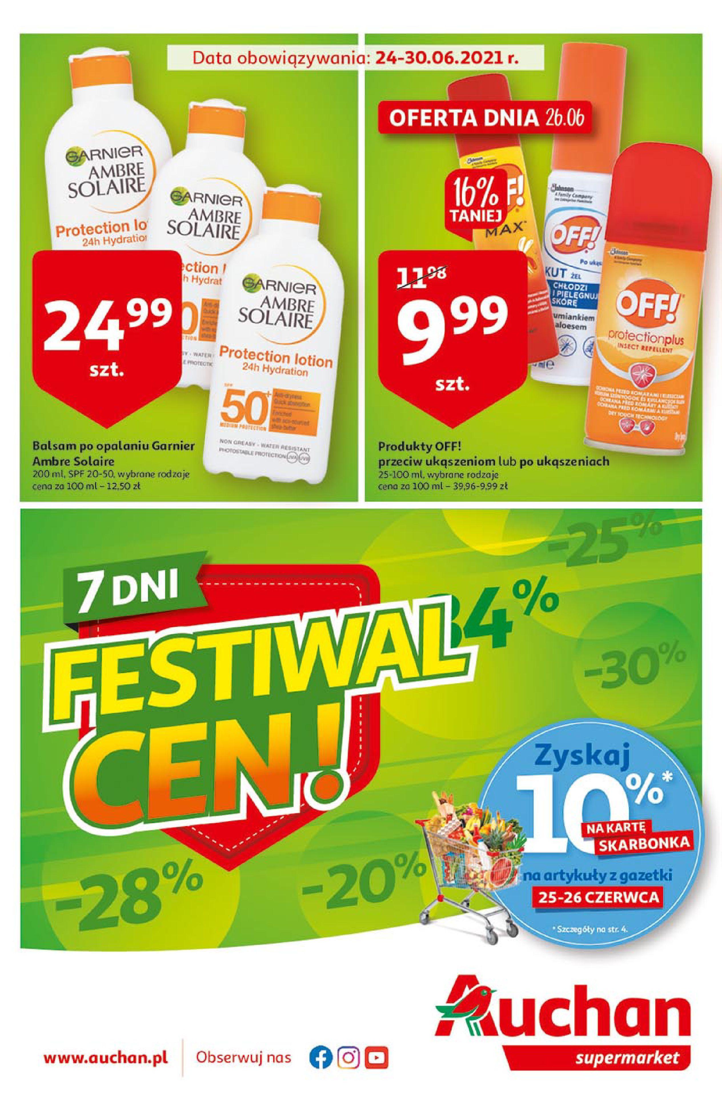 Auchan:  Gazetka Auchan - Festiwal Cen Supermarkety 23.06.2021