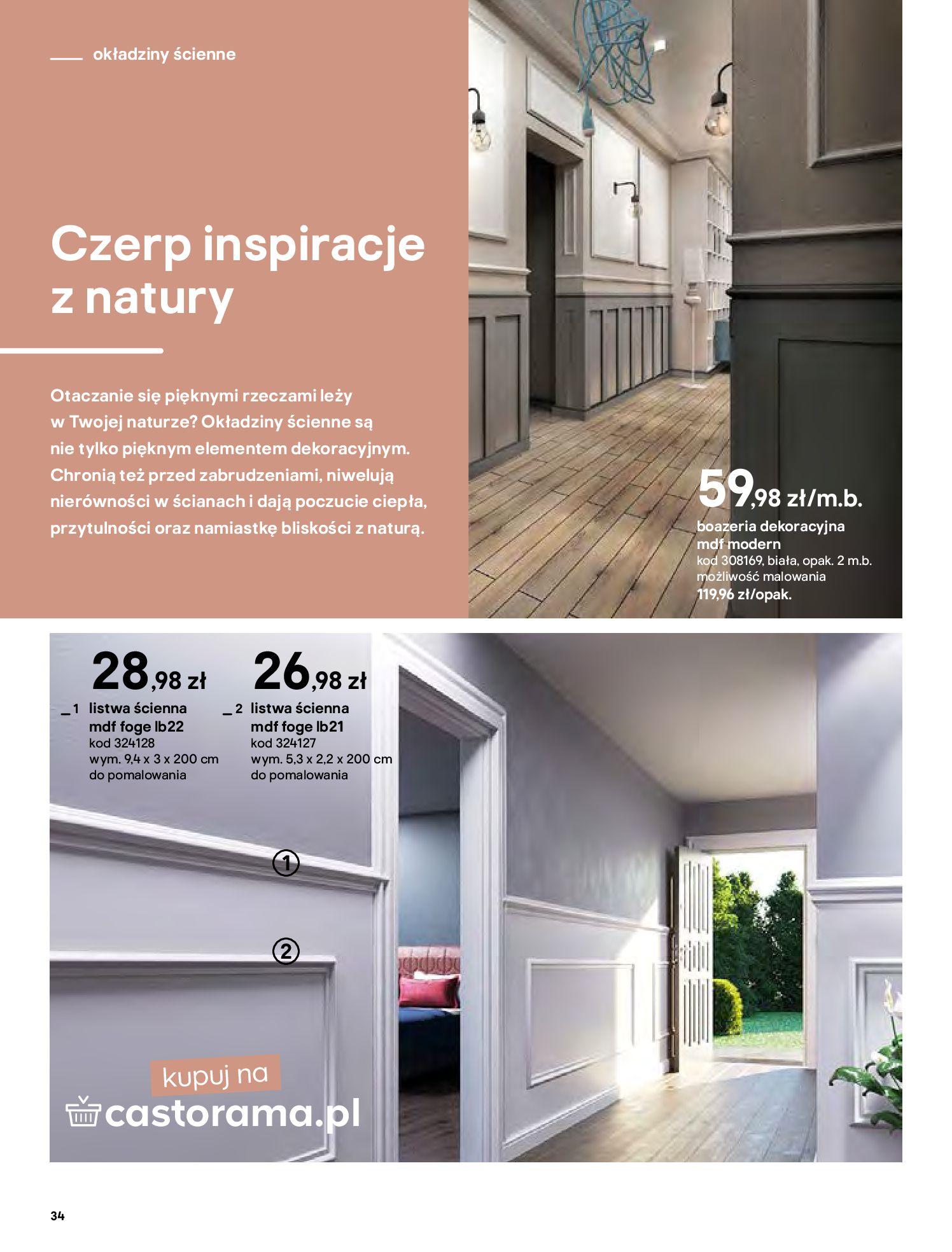 Gazetka Castorama - Katalog Dekoracje-22.10.2020-31.12.2020-page-34