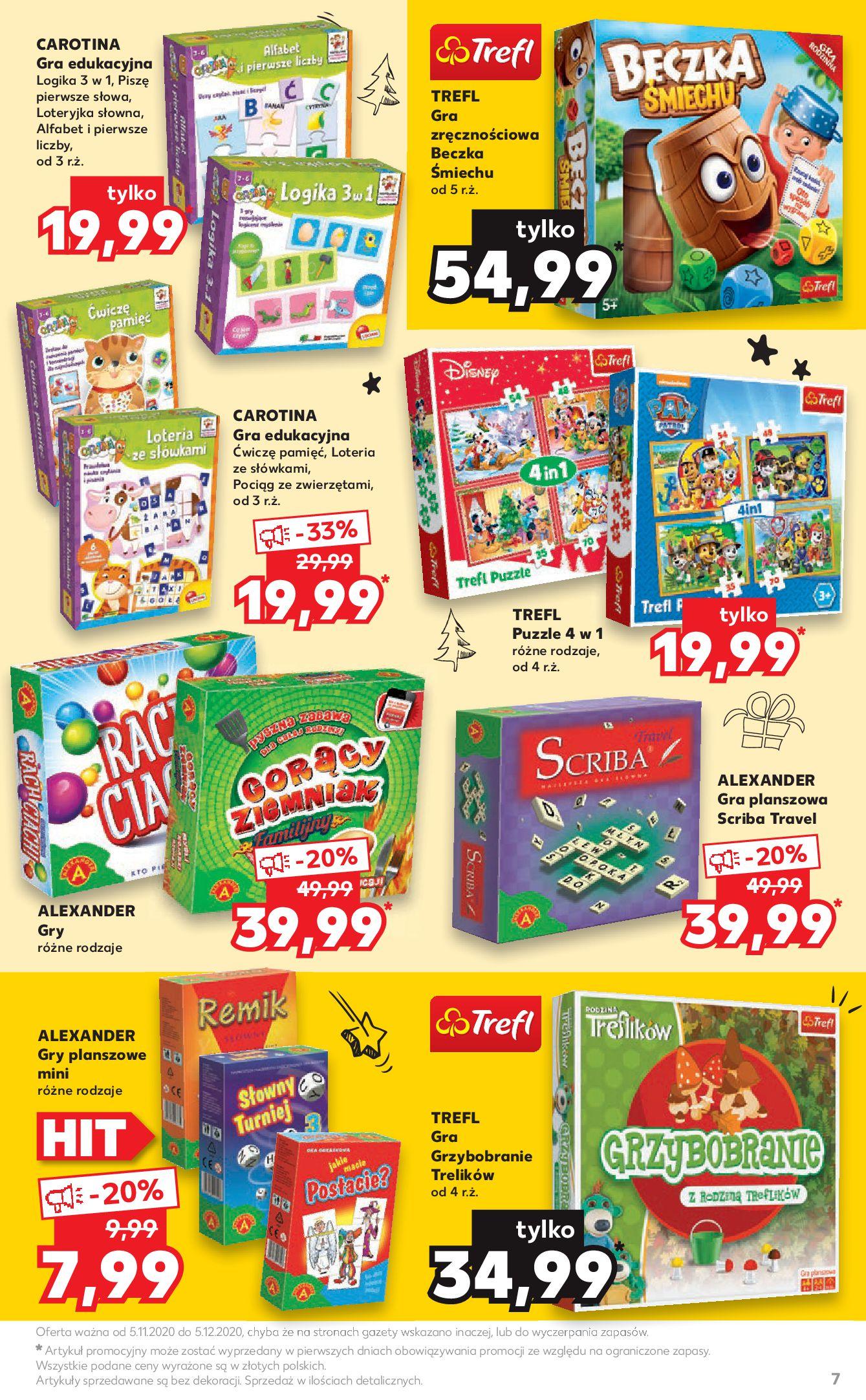 Gazetka Kaufland: Mikołajkowy katalog prezentowy 2020-11-05 page-7