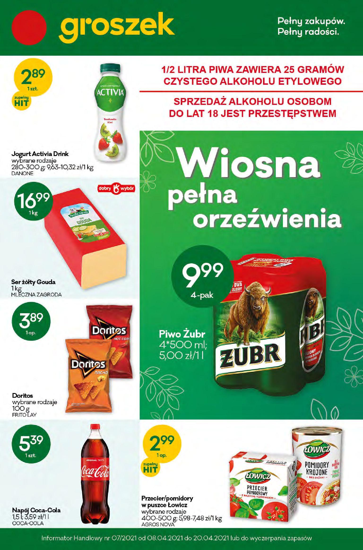 Gazetka Groszek: Gazetka promocyjna 2021-04-08 page-1
