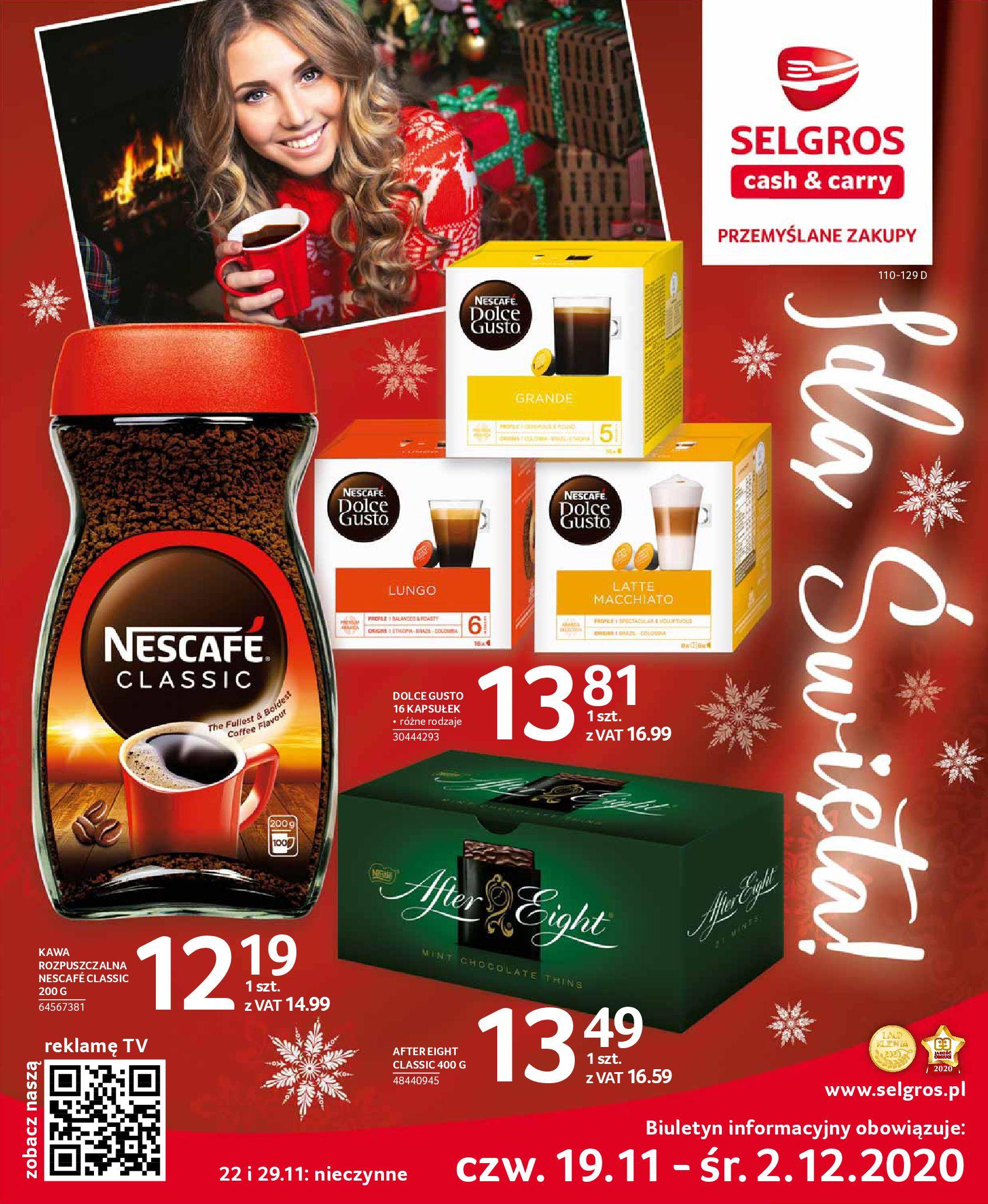 Gazetka Selgros - Oferta spożywcza-18.11.2020-02.12.2020-page-1