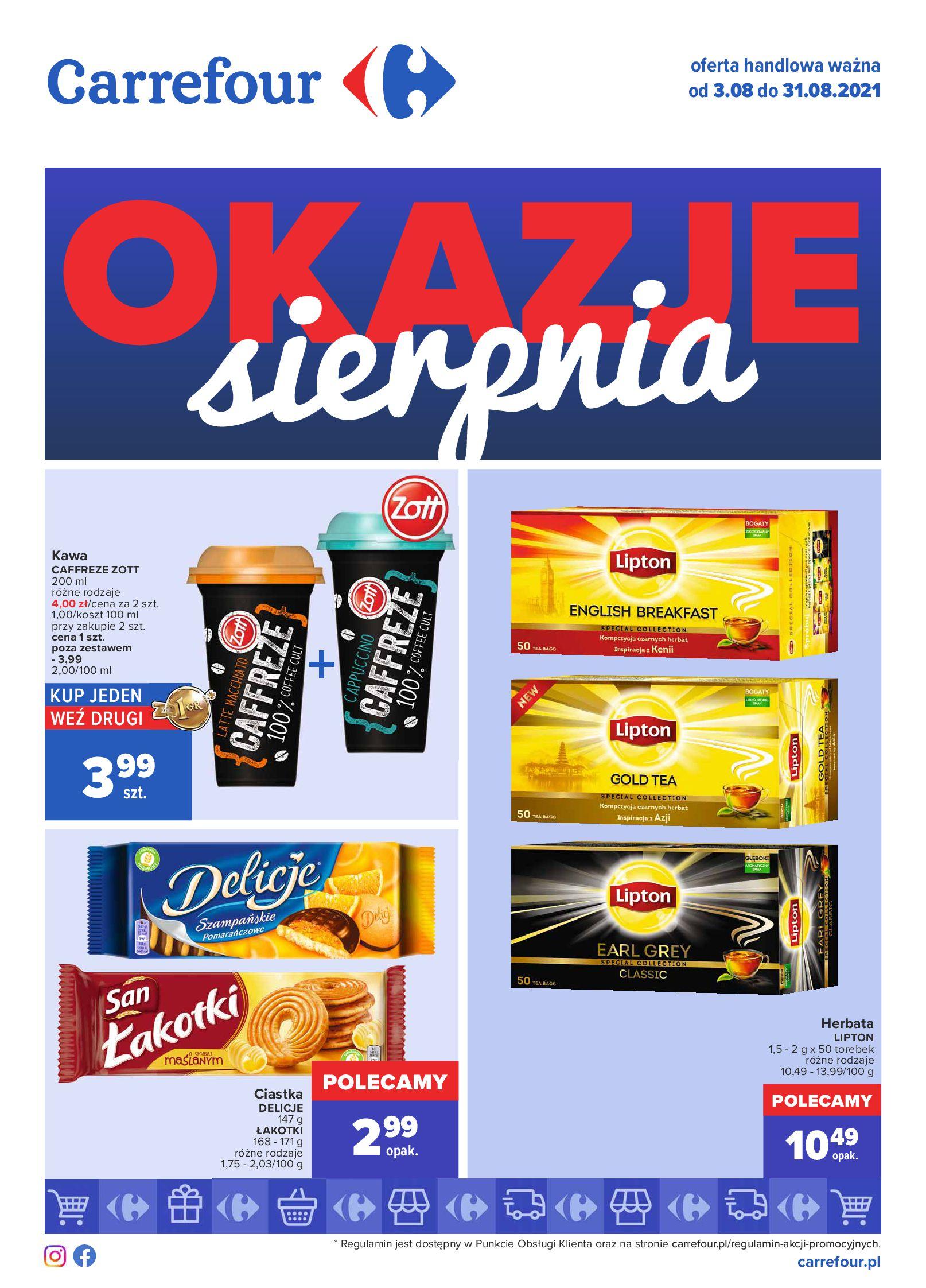 Carrefour:  Gazetka Carrefour - Okazje sierpnia 02.08.2021
