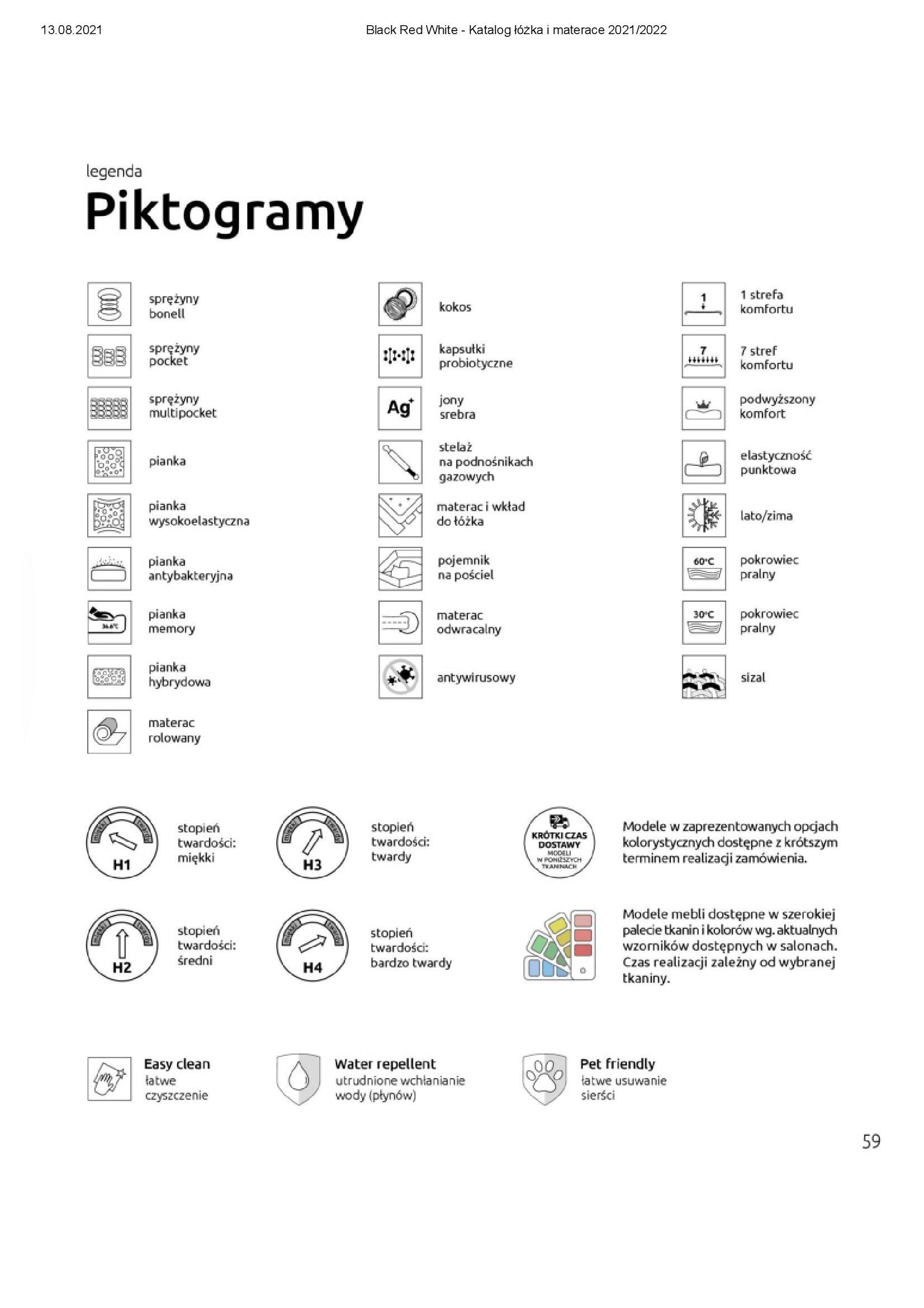 Gazetka Black Red White: Katalog Black Red White - Łóżka i Materace 2021-08-13 page-59