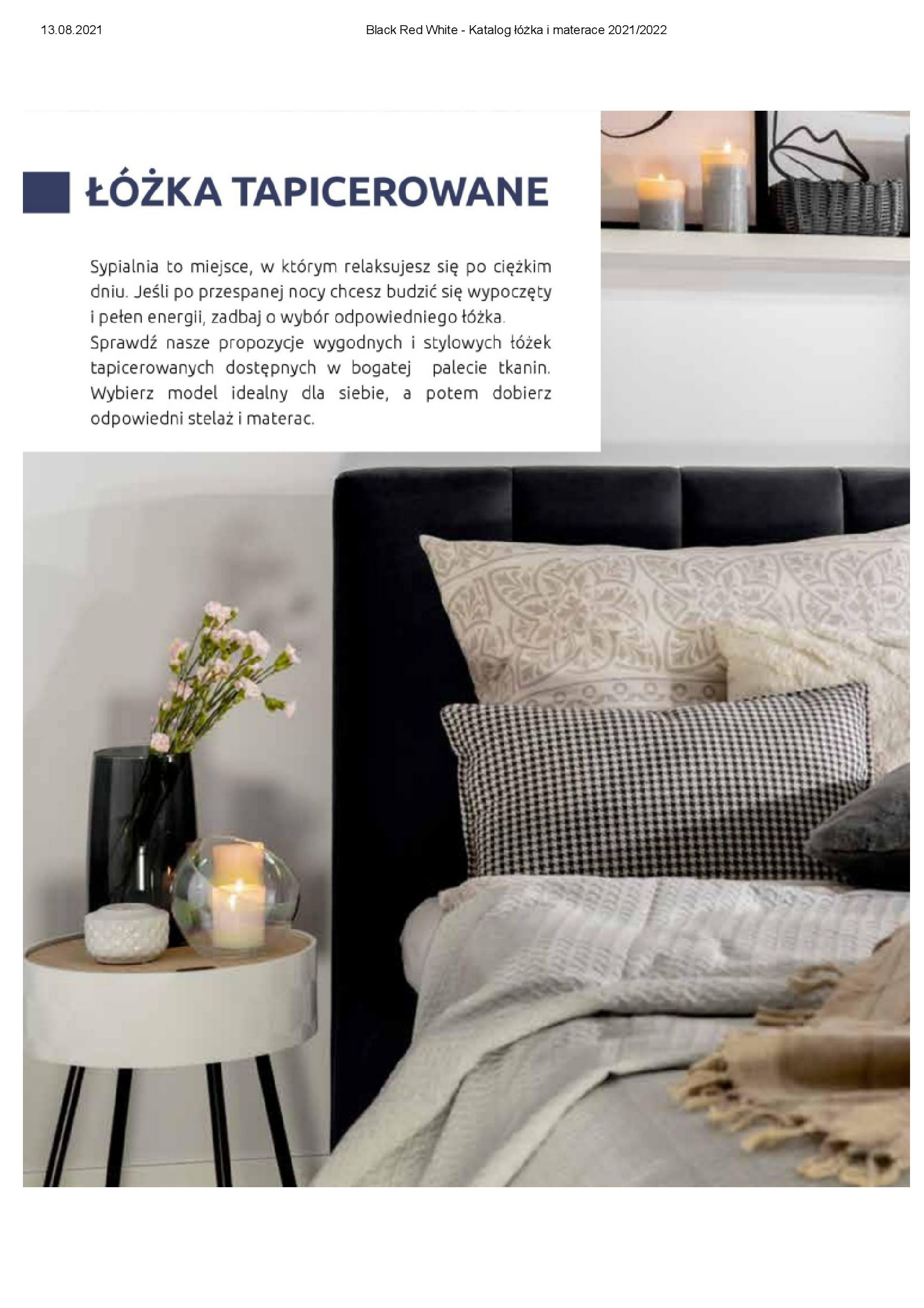Gazetka Black Red White: Katalog Black Red White - Łóżka i Materace 2021-08-13 page-10