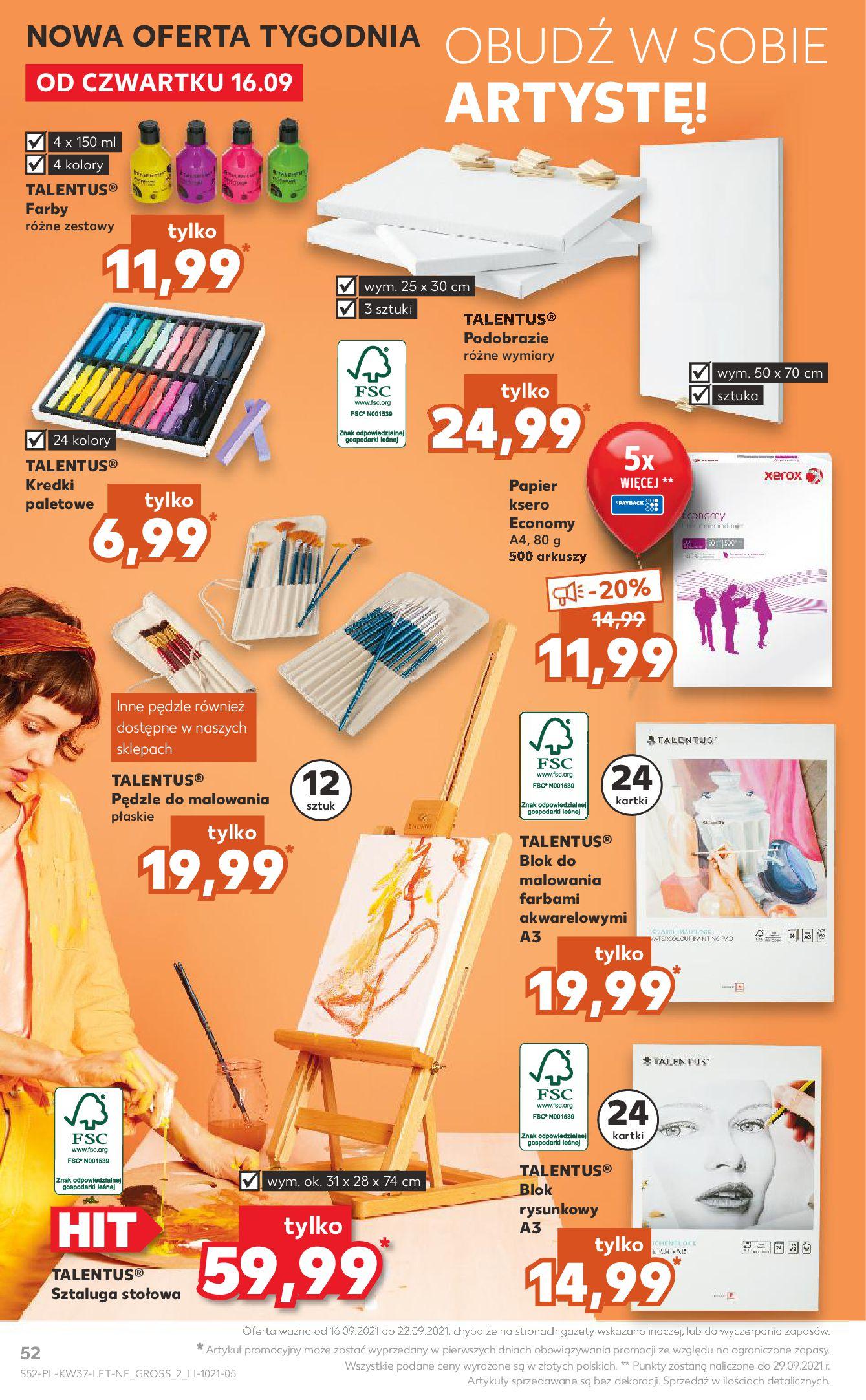 Gazetka Kaufland: Gazetka Kaufland - urodziny 20 lat 2021-09-16 page-52