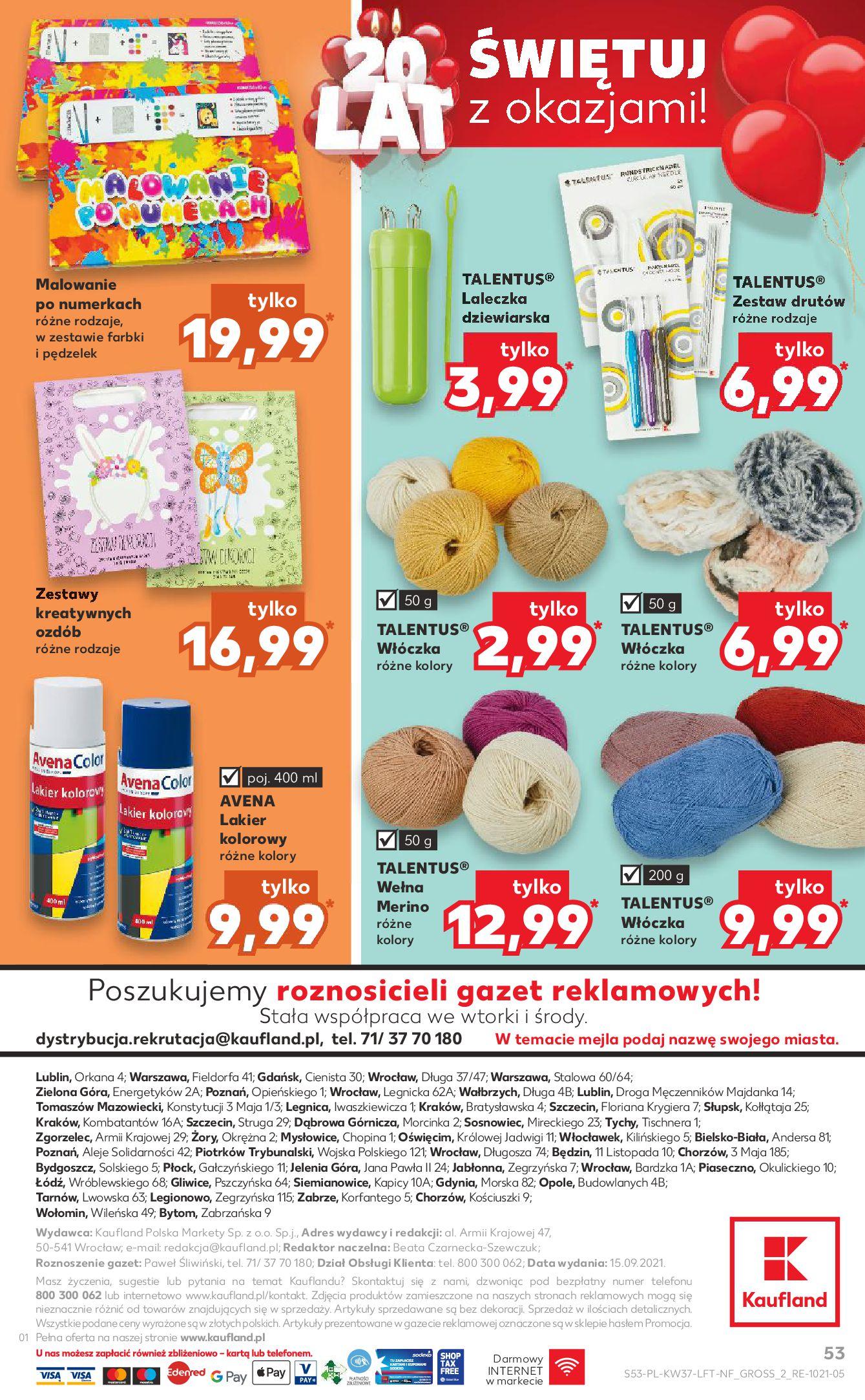 Gazetka Kaufland: Gazetka Kaufland - urodziny 20 lat 2021-09-16 page-53