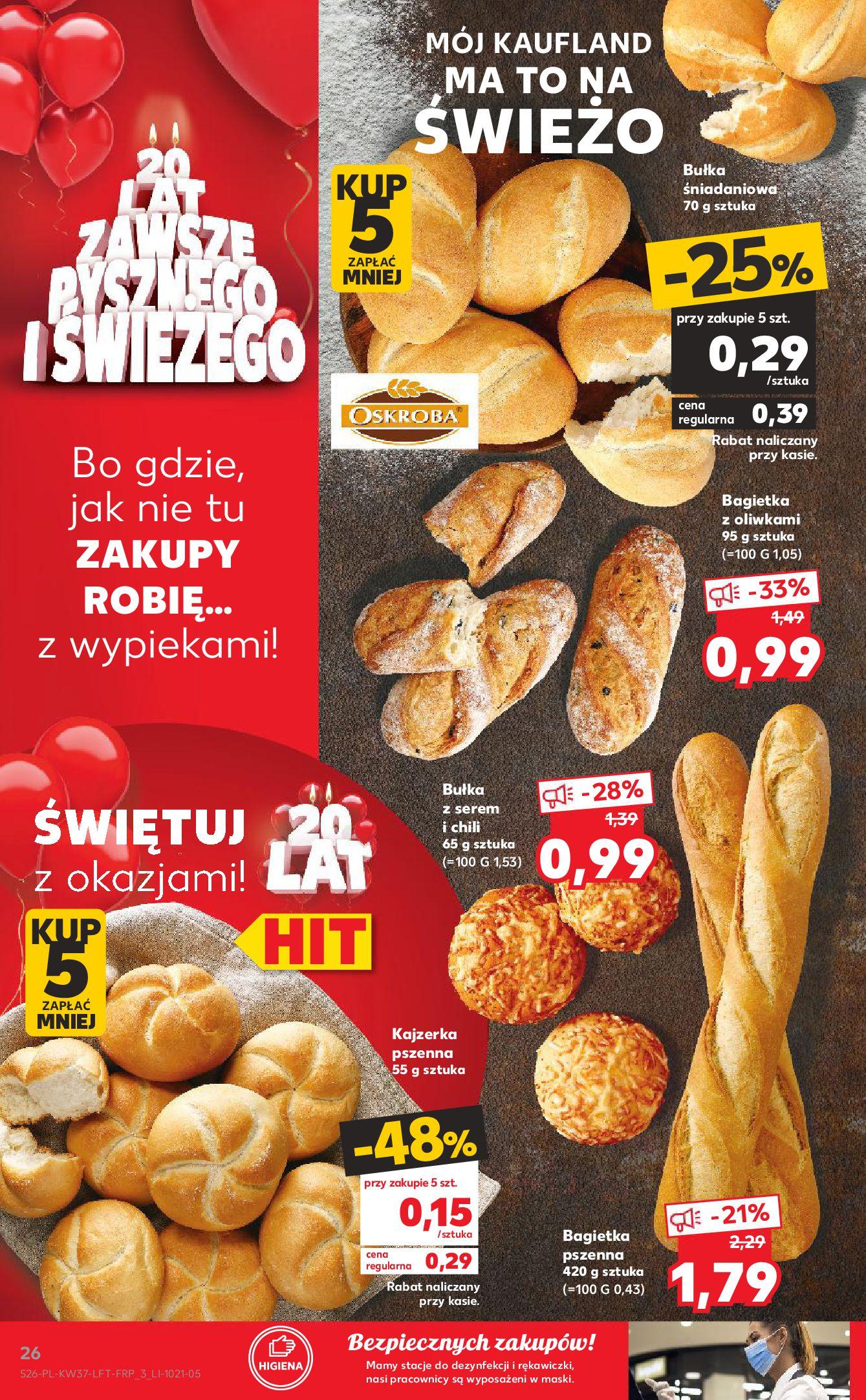 Gazetka Kaufland: Gazetka Kaufland - urodziny 20 lat 2021-09-16 page-26