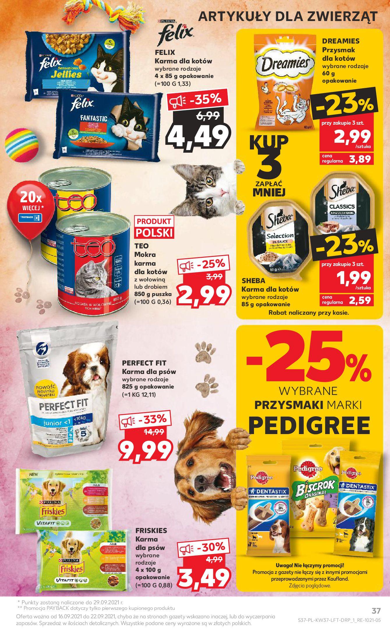 Gazetka Kaufland: Gazetka Kaufland - urodziny 20 lat 2021-09-16 page-37