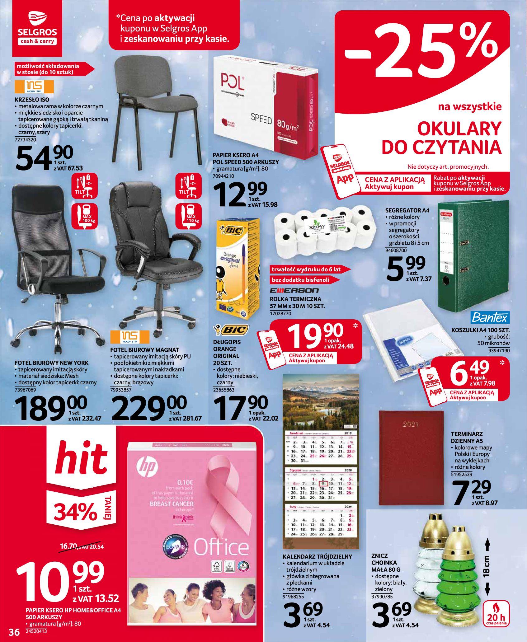 Gazetka Selgros: Oferta przemysłowa 2020-11-19 page-36