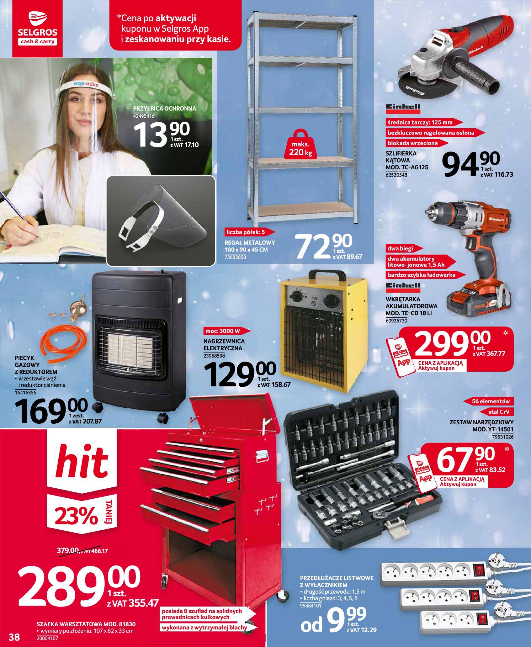 Gazetka Selgros: Oferta przemysłowa 2020-11-19 page-38