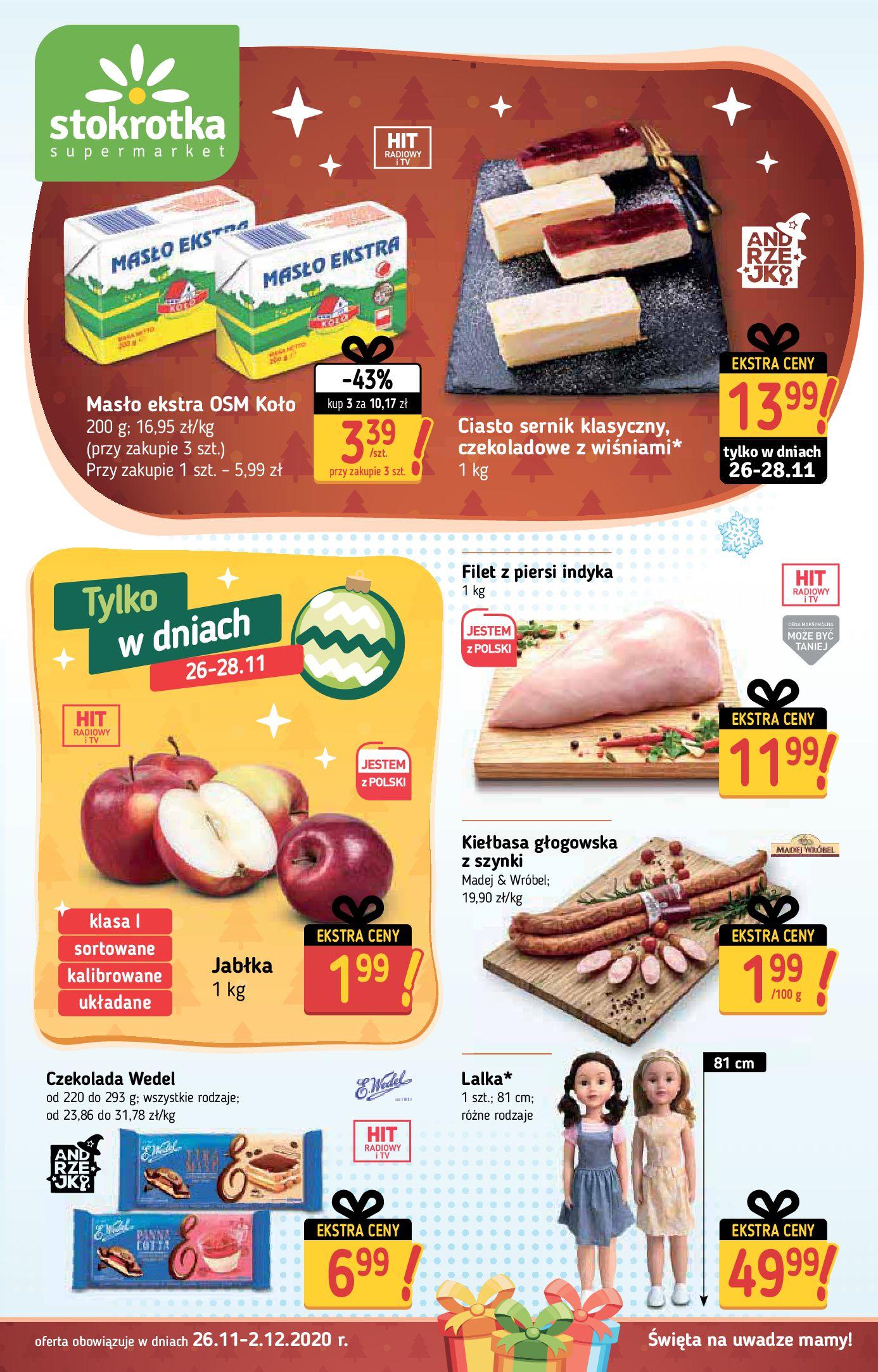 Stokrotka Supermarket:  Oferta handlowa 25.11.2020