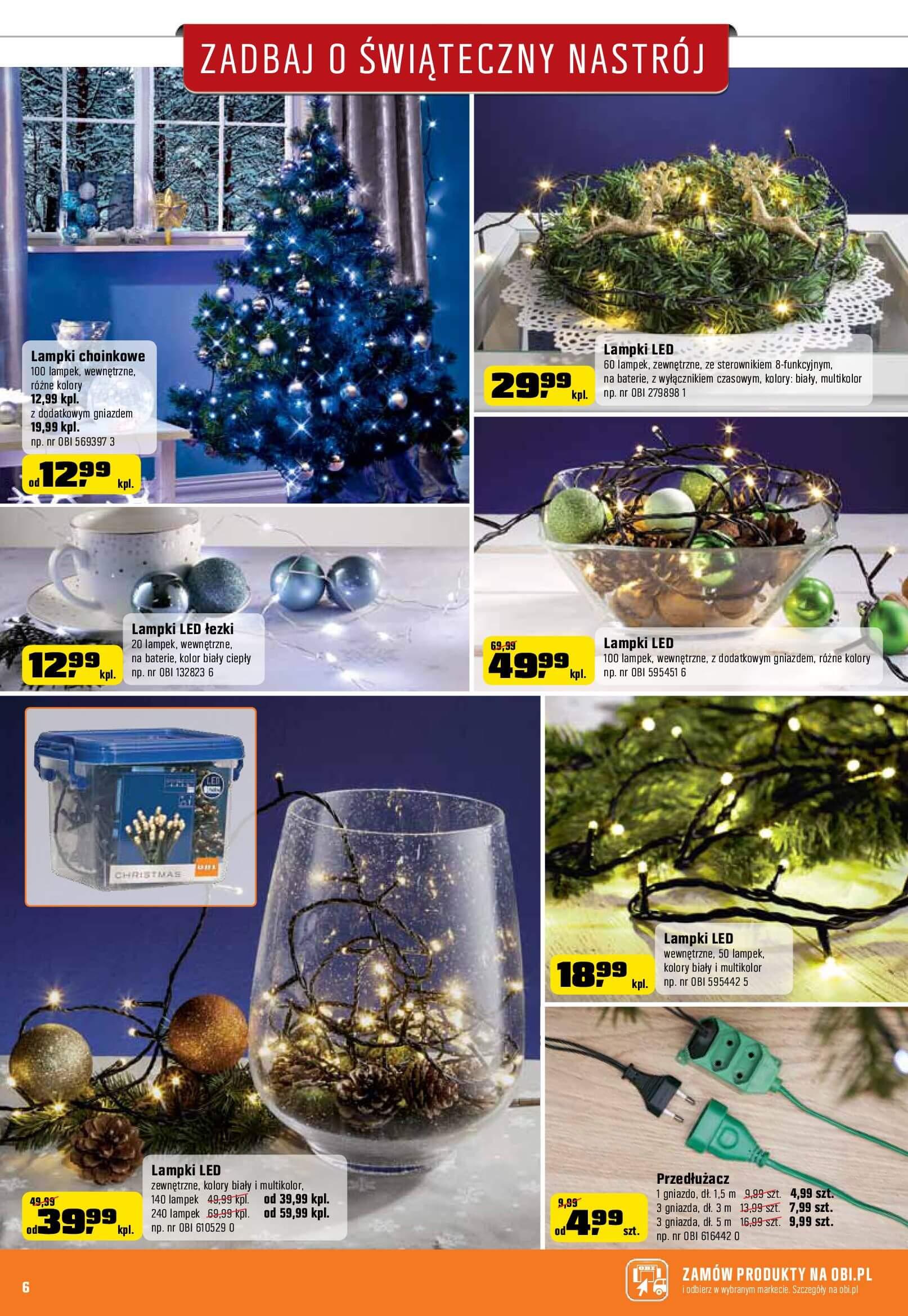 Gazetka OBI - Zadbaj o świąteczny nastrój-06.12.2017-02.01.2018-page-6