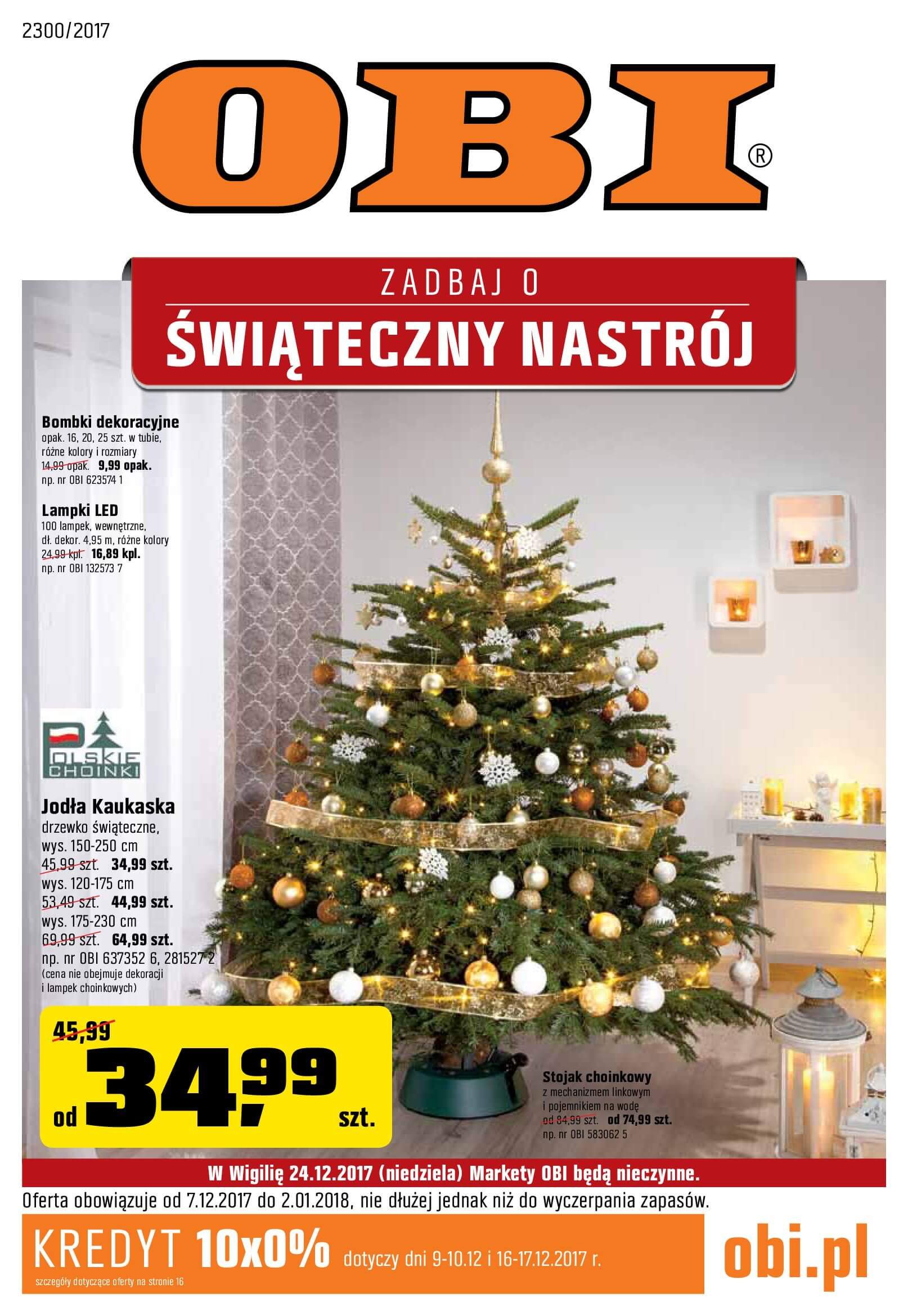 Gazetka OBI - Zadbaj o świąteczny nastrój-2017-12-06-2018-01-02-page-1