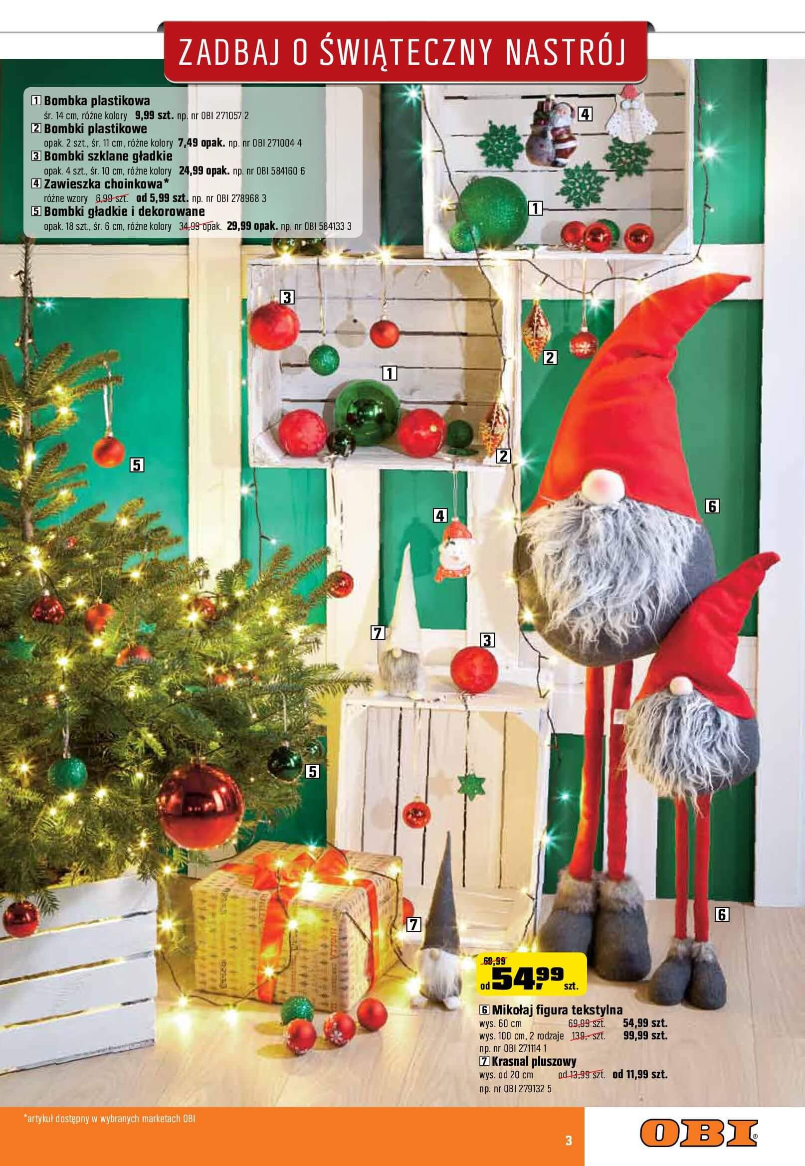 Gazetka OBI - Zadbaj o świąteczny nastrój-06.12.2017-02.01.2018-page-3