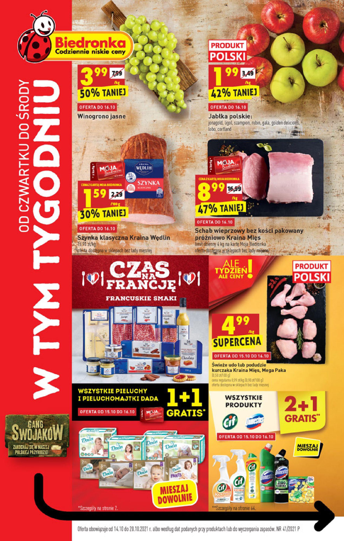 Gazetka Biedronka: Gazetka Biedronka - W tym tygodniu od 14.10 - 13.10.2021