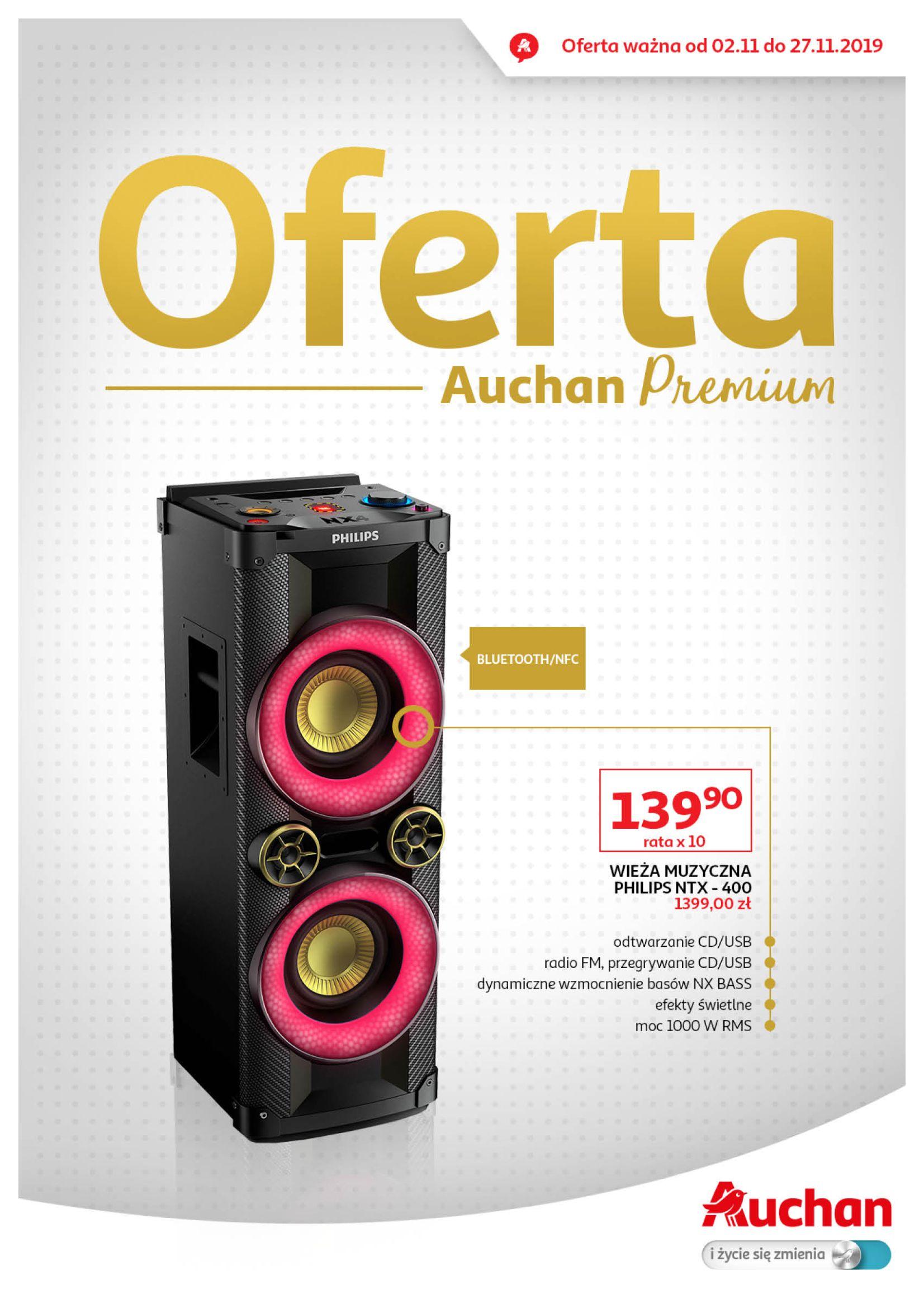 Gazetka Auchan - Oferta Auchan Premium Hipermarkety-01.11.2019-27.11.2019-page-1