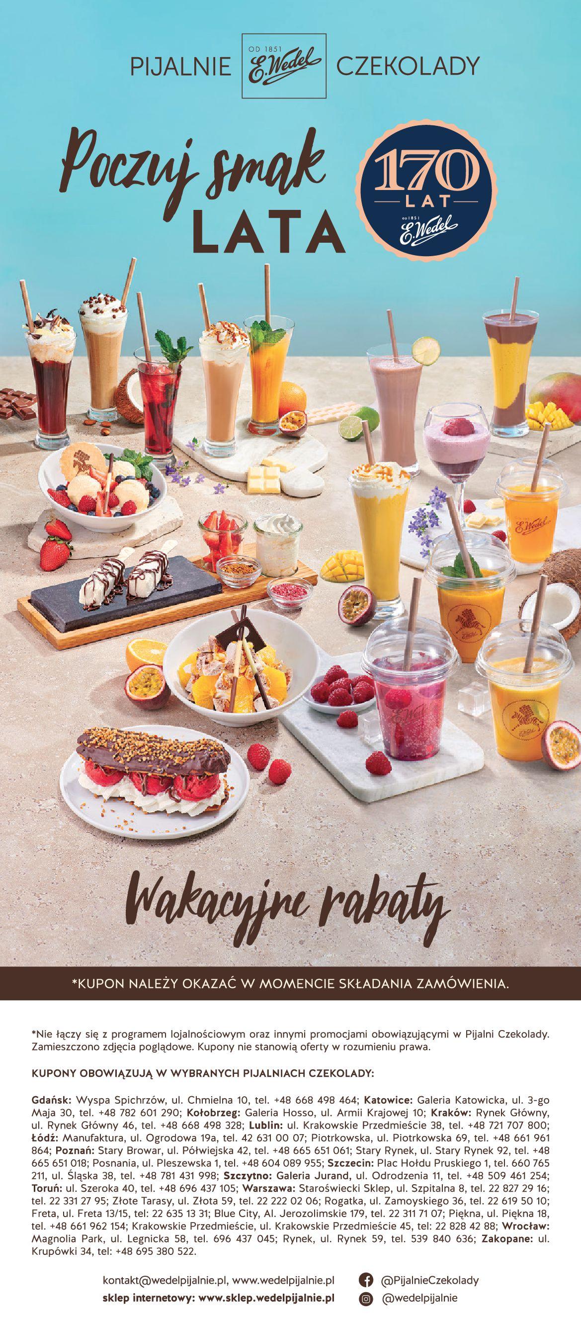 Gazetka Pijalnie Czekolady E.Wedel: Kupony E.Wedel 2021-07-01 page-2