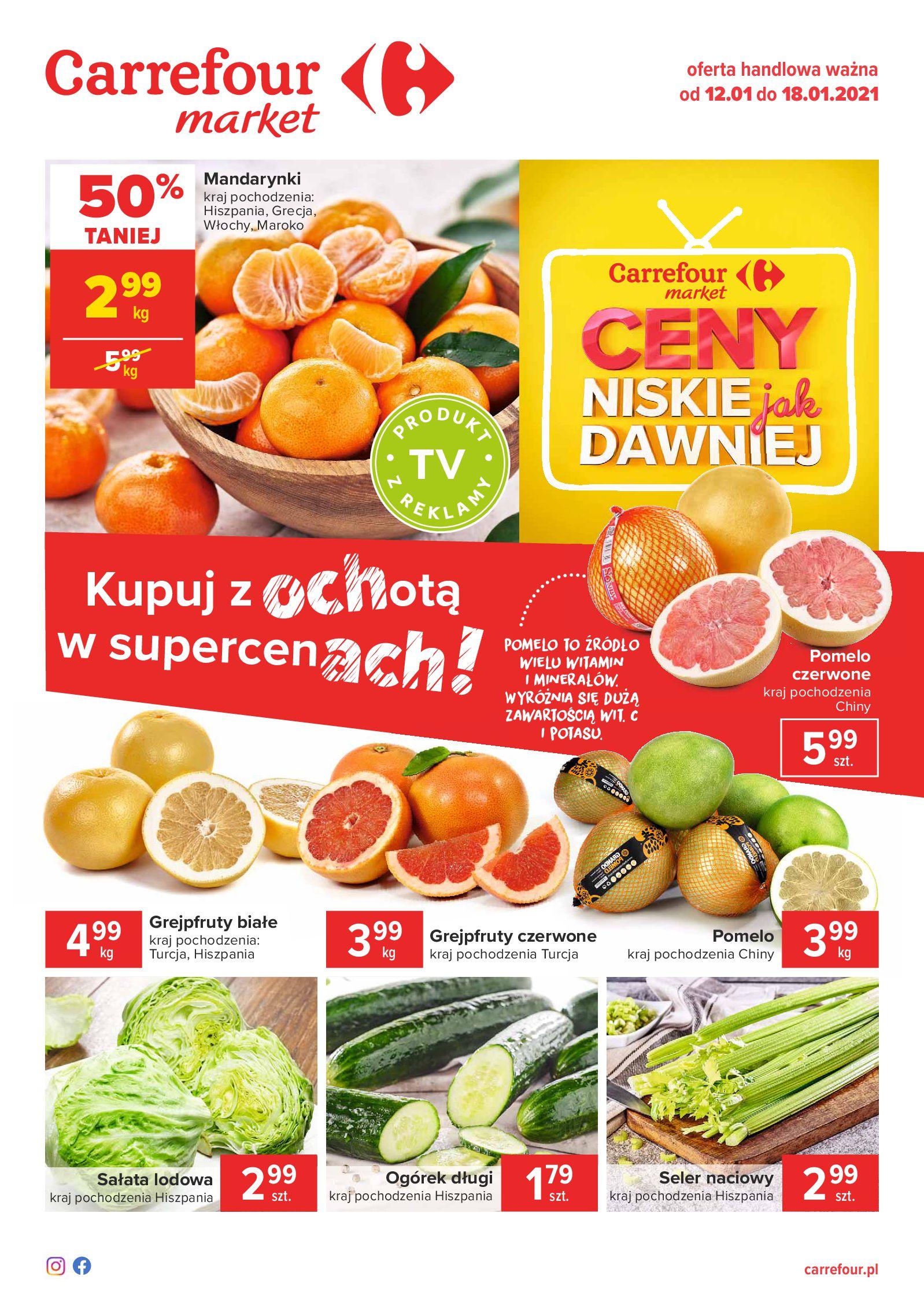 Carrefour Market:  Gazetka Market 11.01.2021