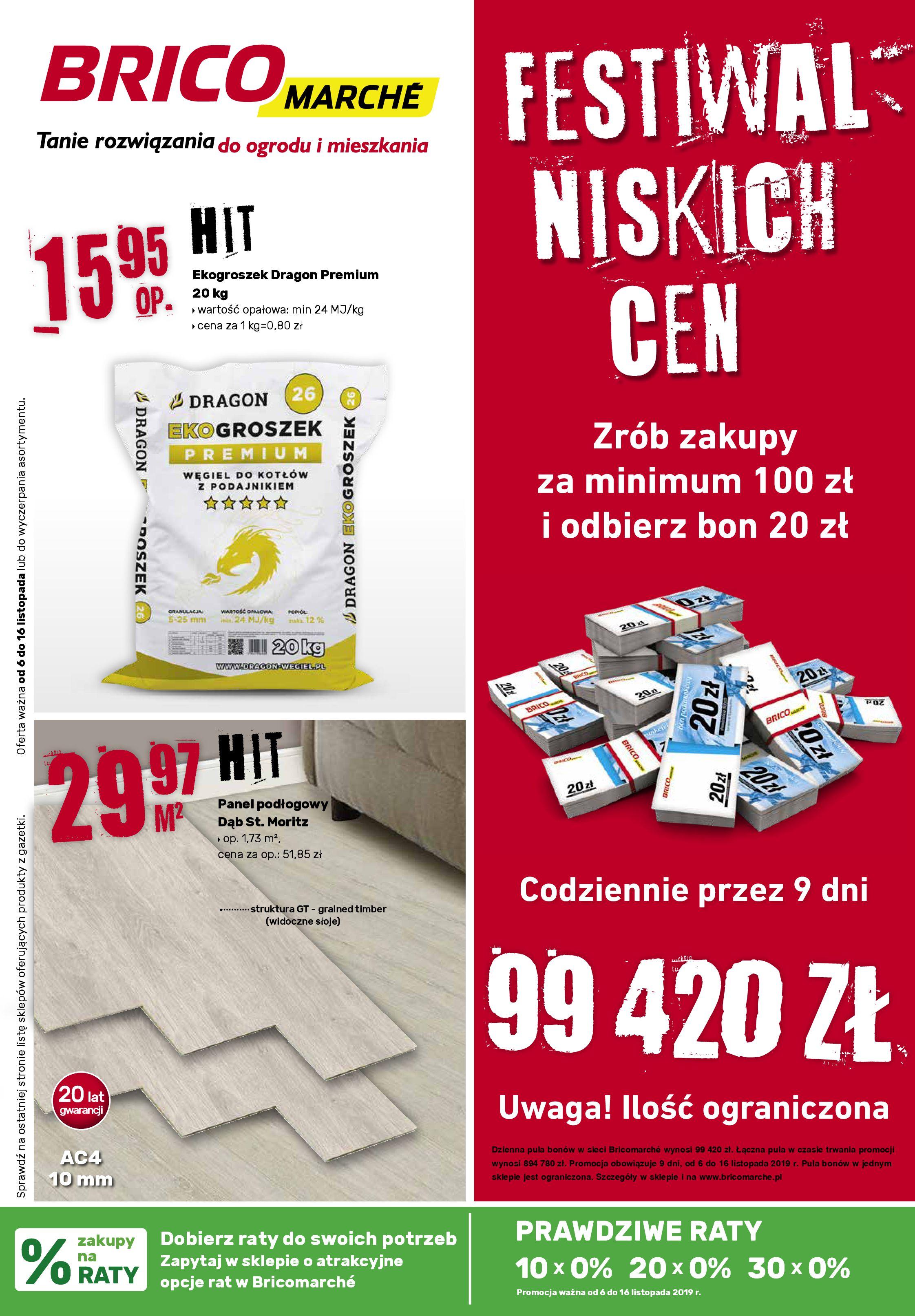 Gazetka Bricomarché - Tanie rozwiązanie do ogrodu i mieszkania-05.11.2019-16.11.2019-page-1