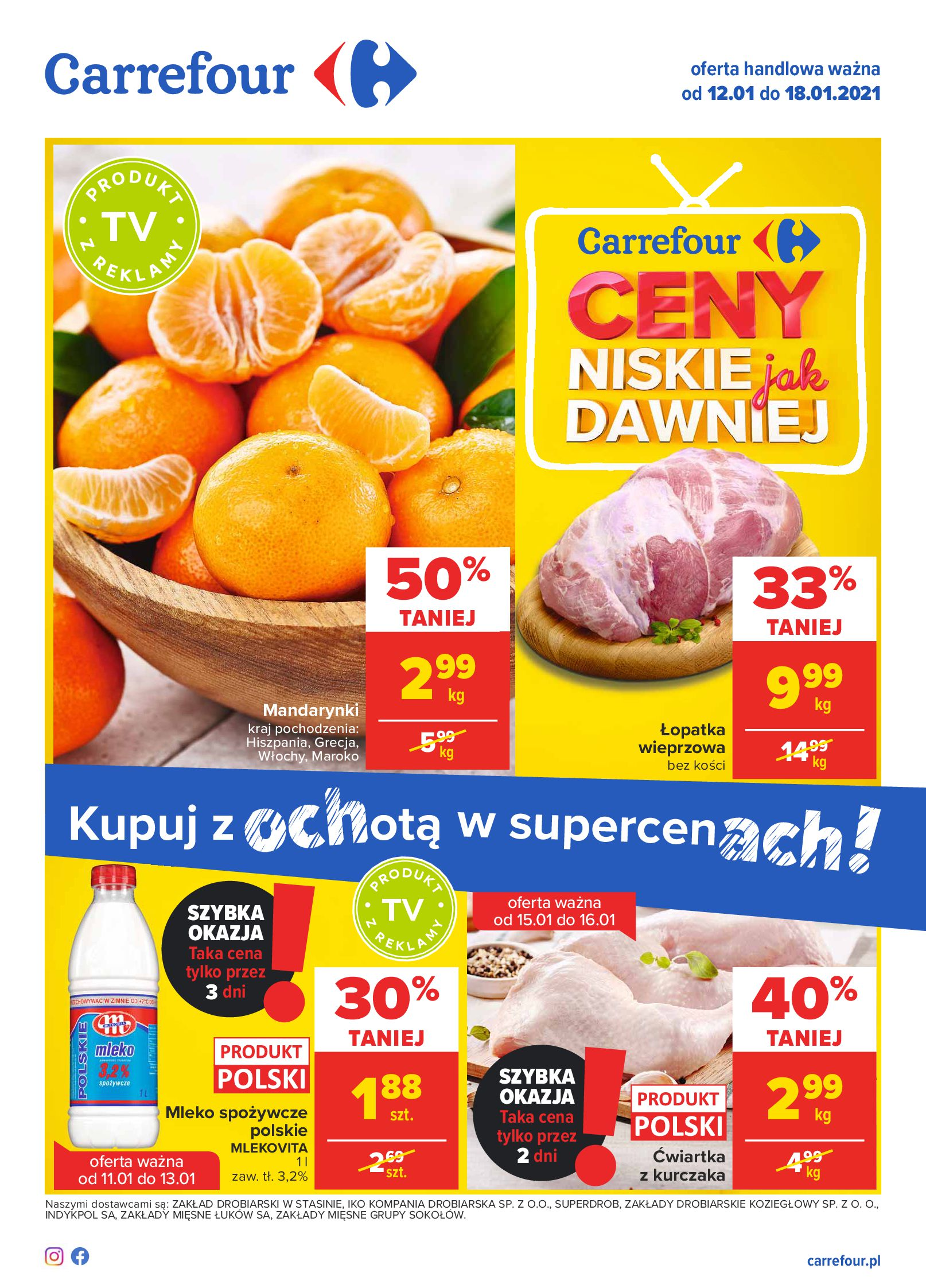 Carrefour:  Gazetka Carrefour 11.01.2021
