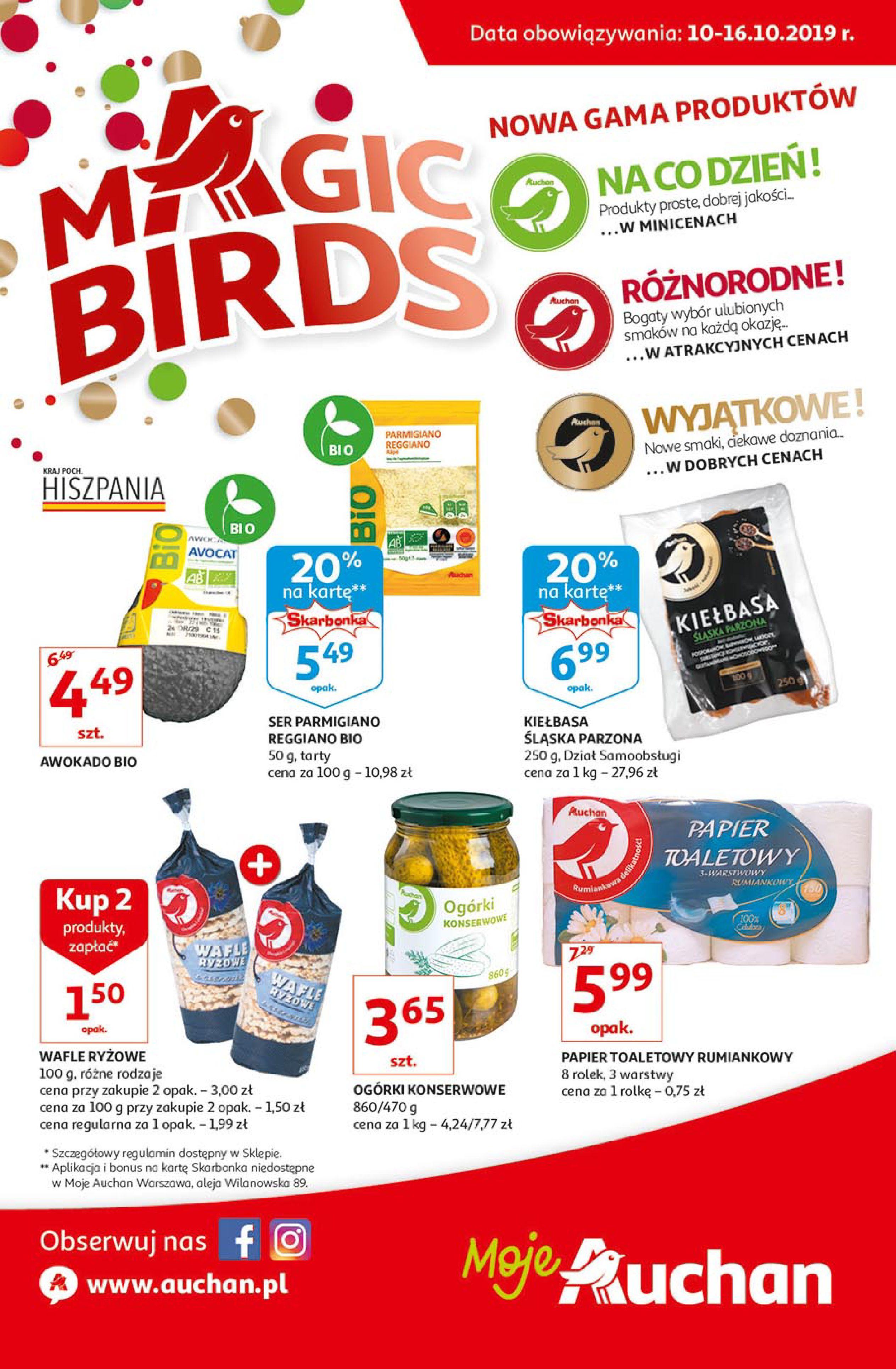 Gazetka Auchan - Magic birds Moje Auchan-09.10.2019-16.10.2019-page-