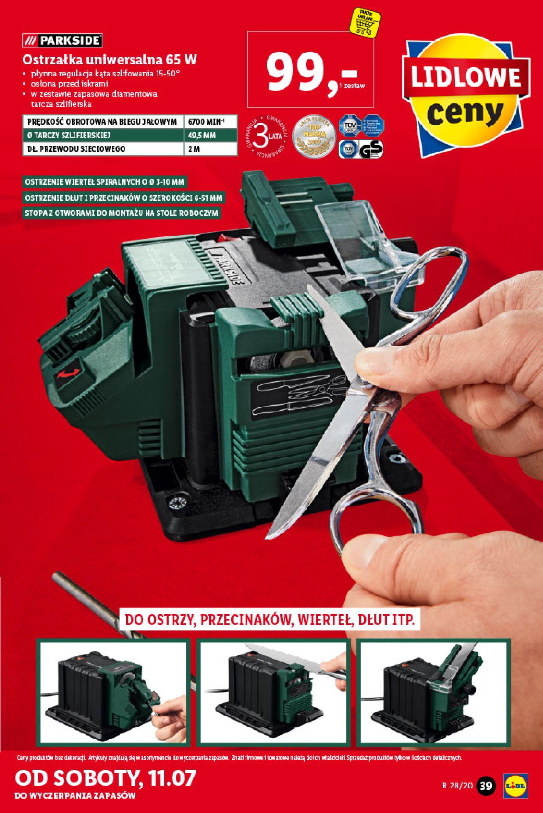 Gazetka Lidl - Katalog od poniedziałku 06.07-05.07.2020-11.07.2020-page-39