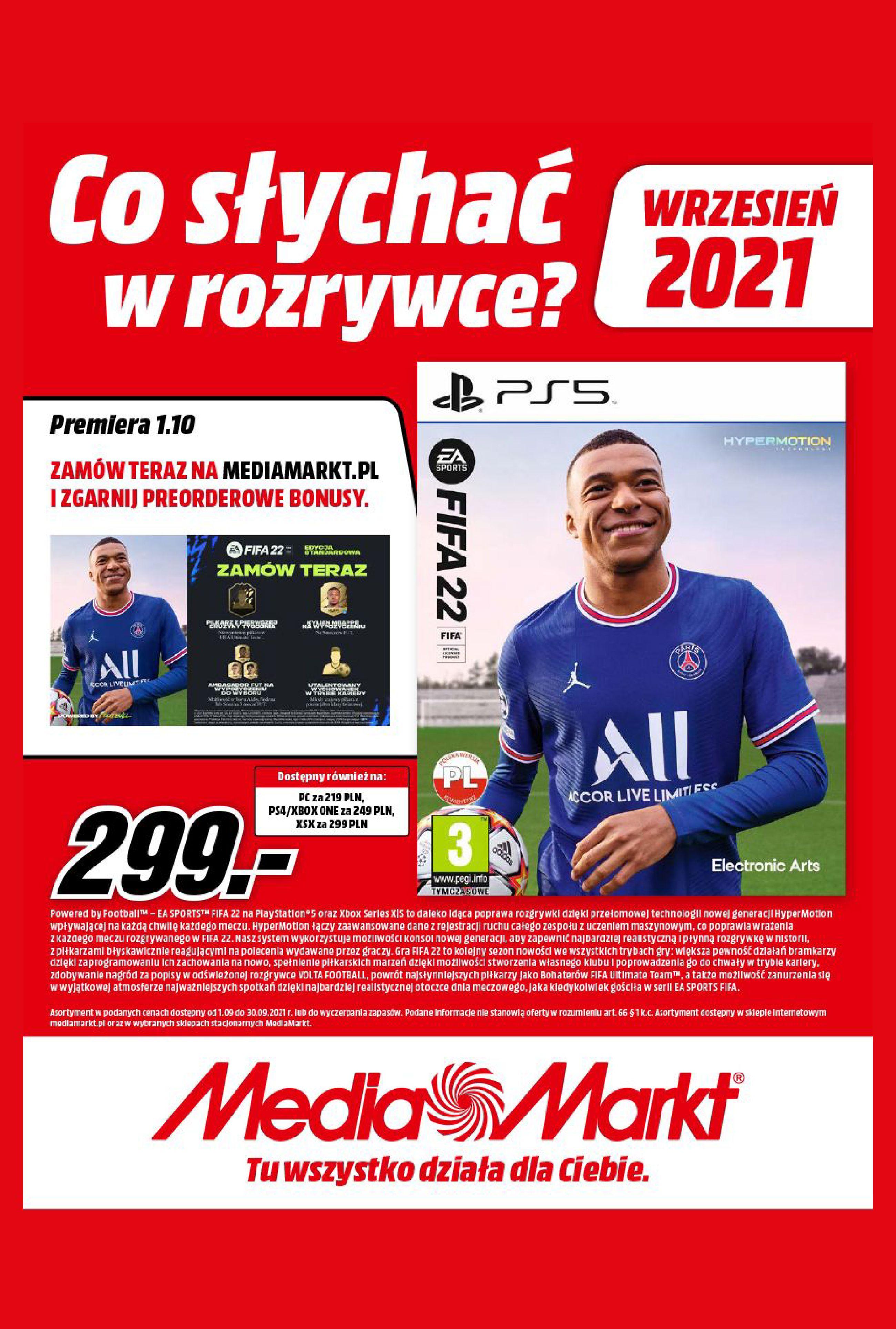 Gazetka Media Markt: Gazetka Media Markt - Wrzesień 2021 2021-09-09 page-1