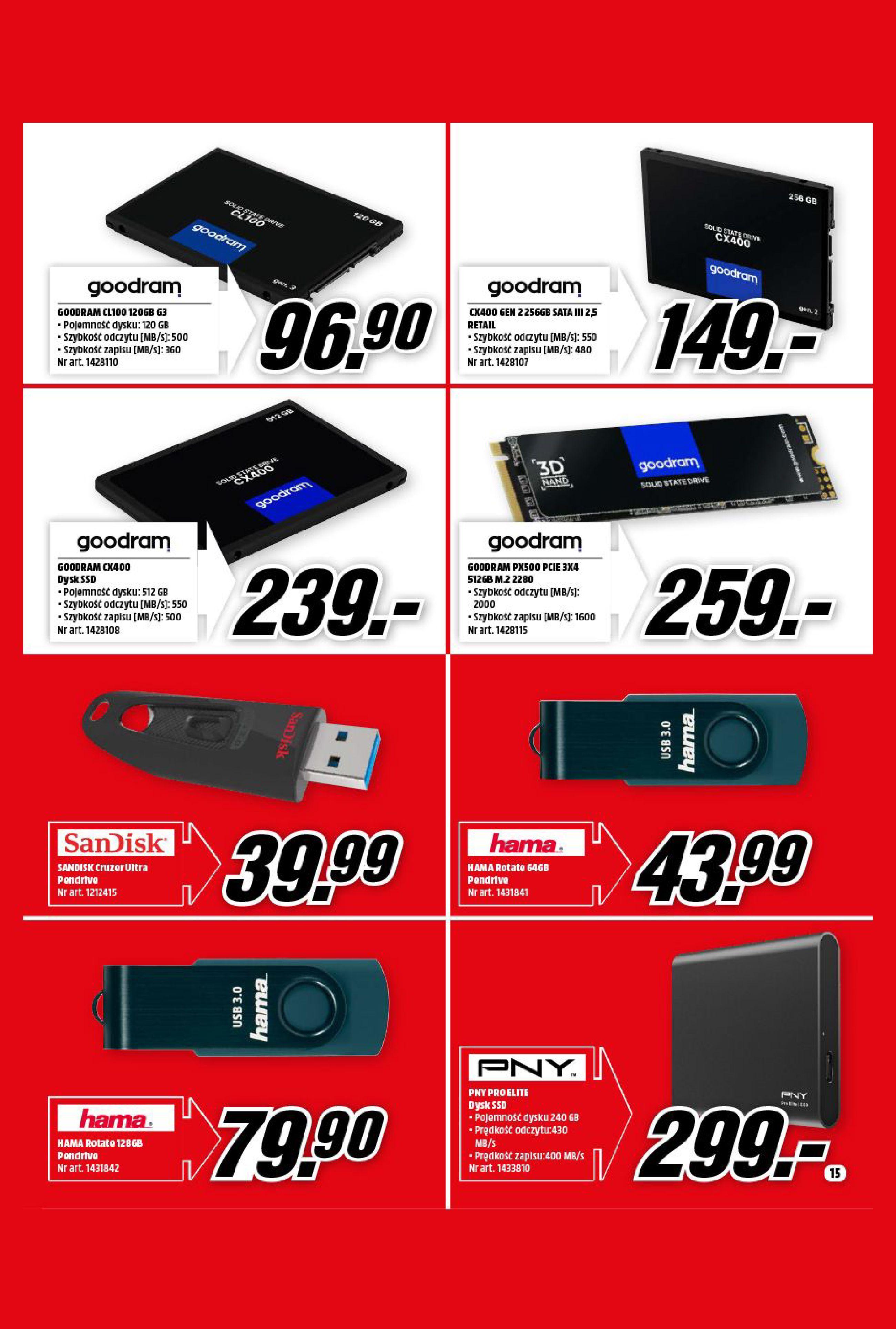 Gazetka Media Markt: Gazetka Media Markt - Wrzesień 2021 2021-09-09 page-15