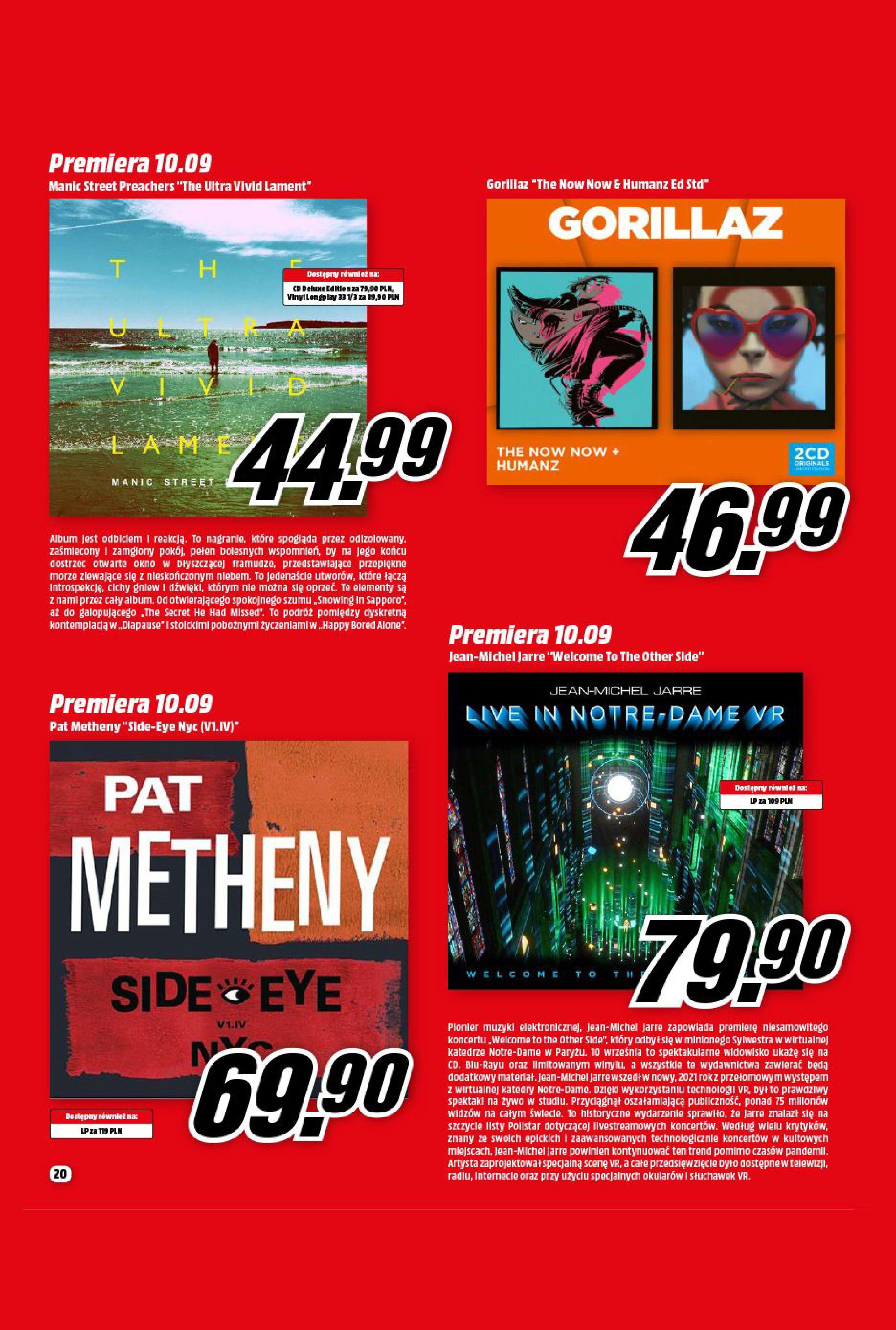 Gazetka Media Markt: Gazetka Media Markt - Wrzesień 2021 2021-09-09 page-20