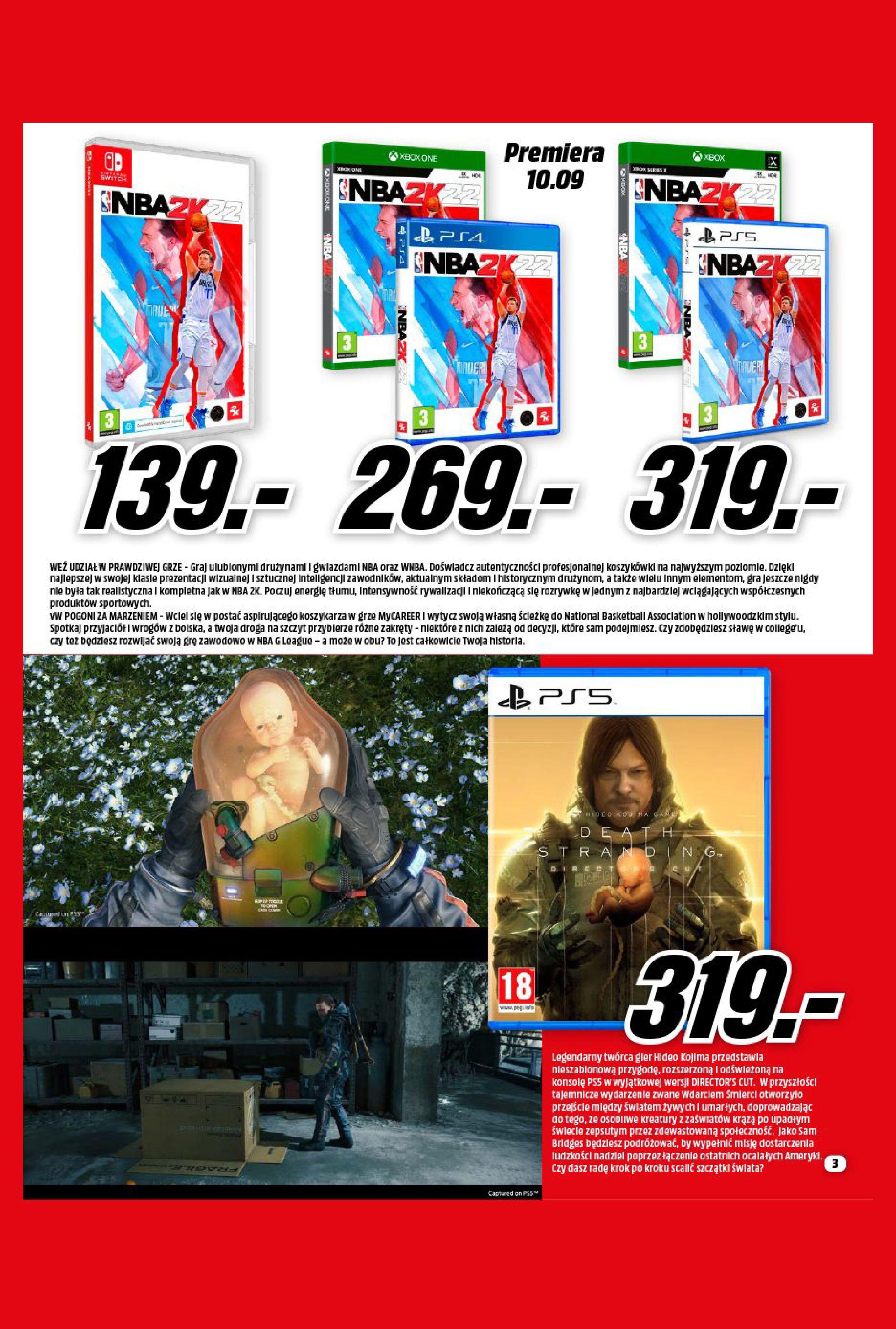 Gazetka Media Markt: Gazetka Media Markt - Wrzesień 2021 2021-09-09 page-3