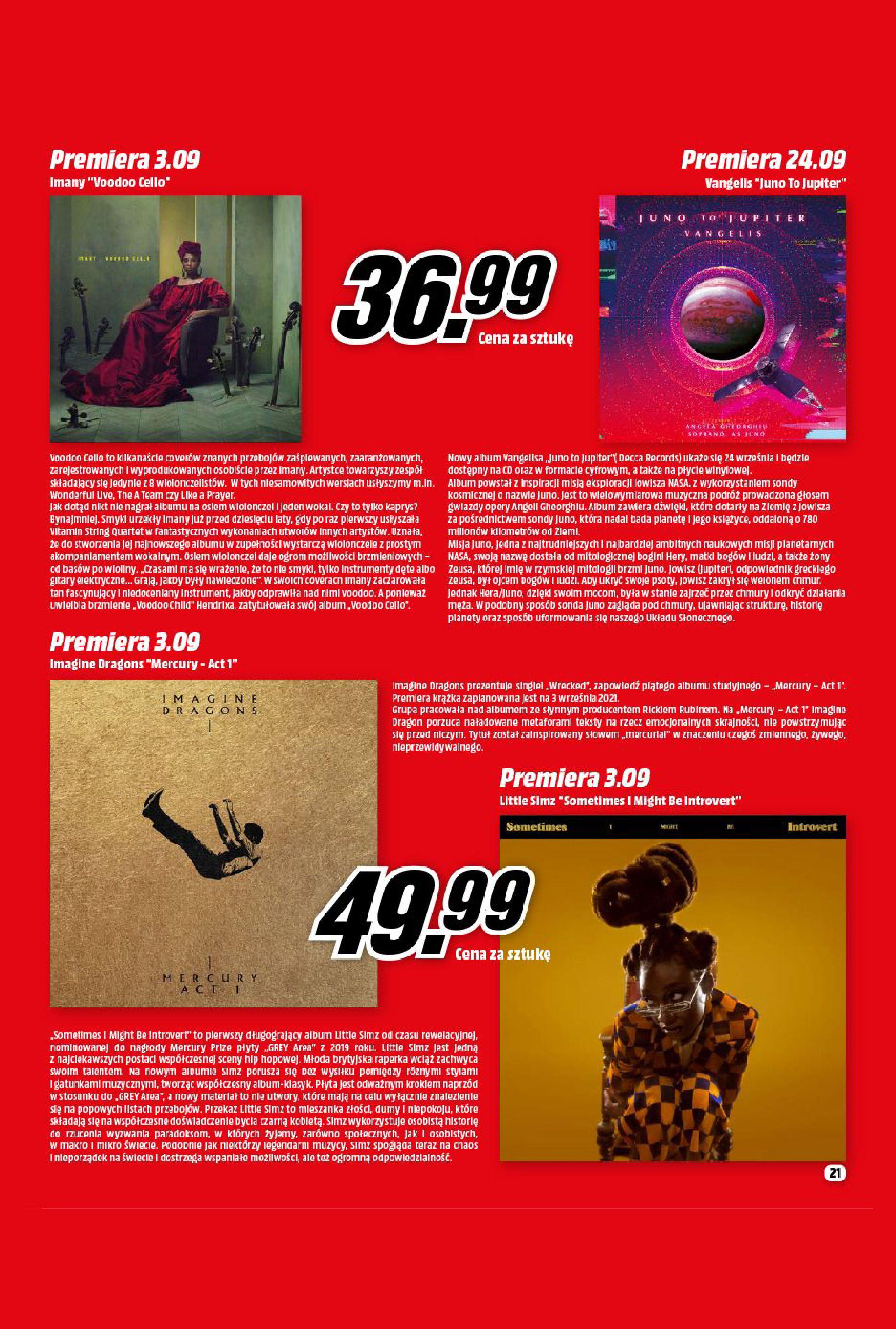 Gazetka Media Markt: Gazetka Media Markt - Wrzesień 2021 2021-09-09 page-21