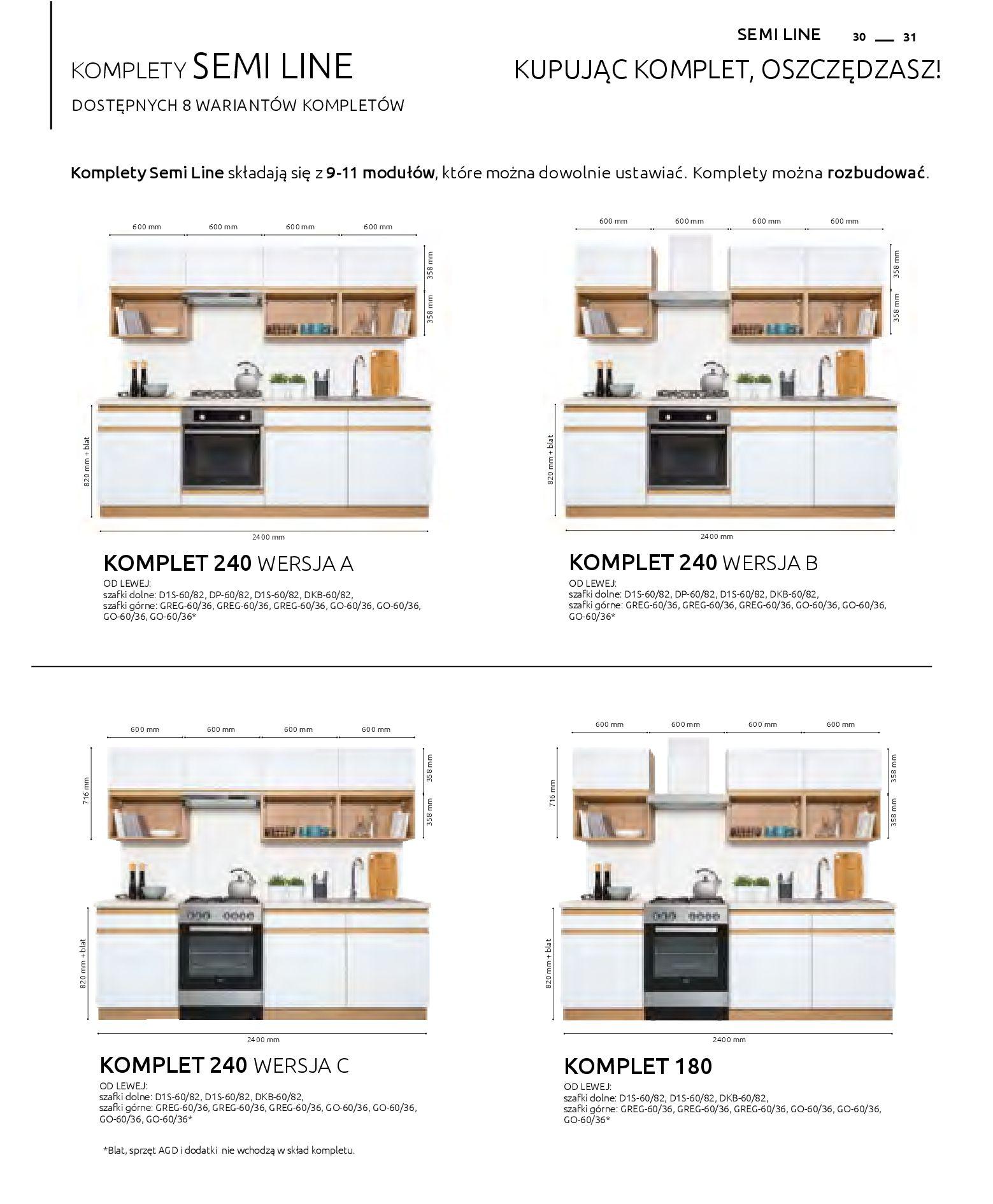 Gazetka Black Red White: Katalog - Kuchnie modułowe 2019-04-01 page-31
