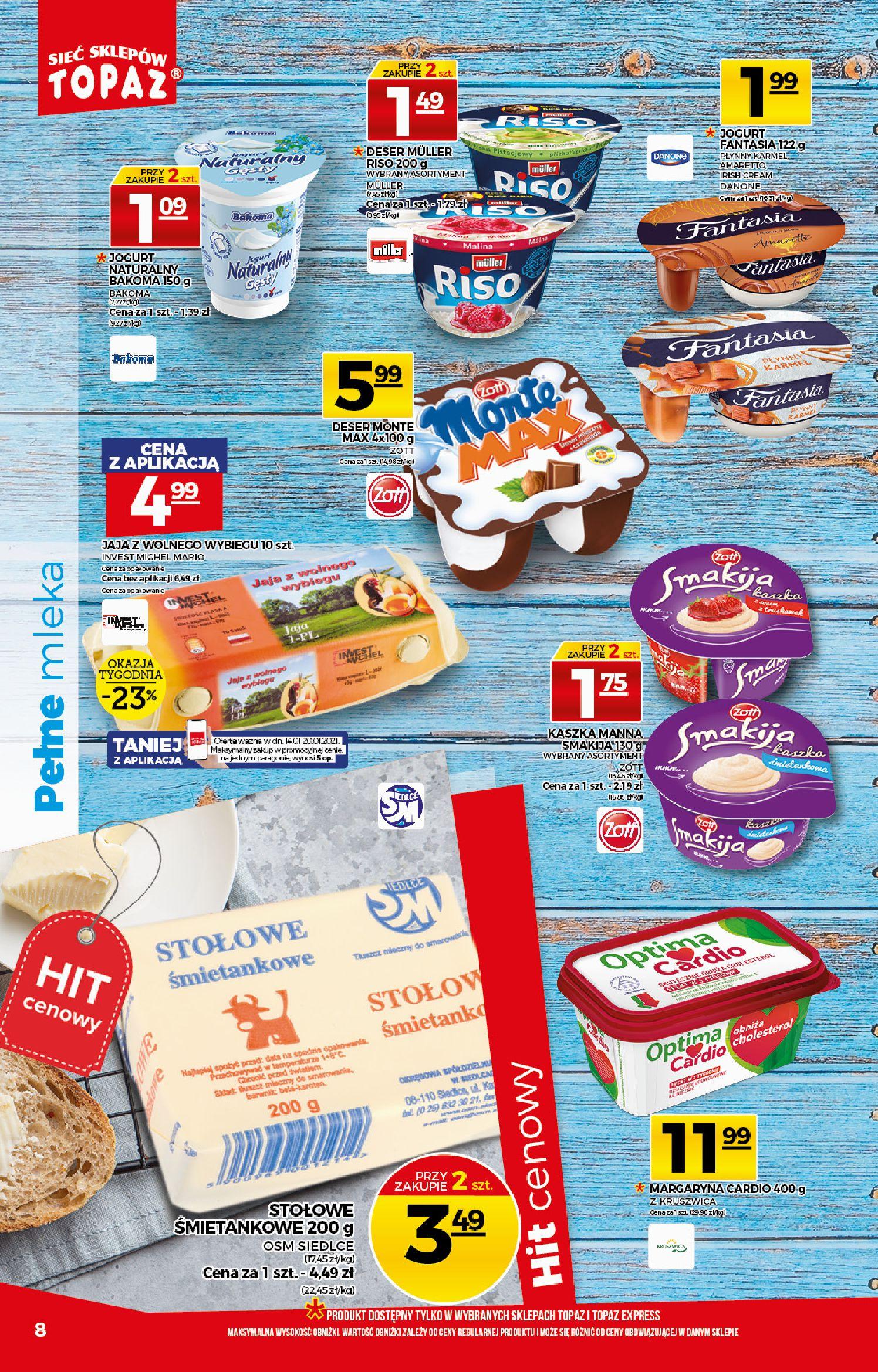 Gazetka TOPAZ: Gazetka promocyjna od 14.01 2021-01-14 page-8