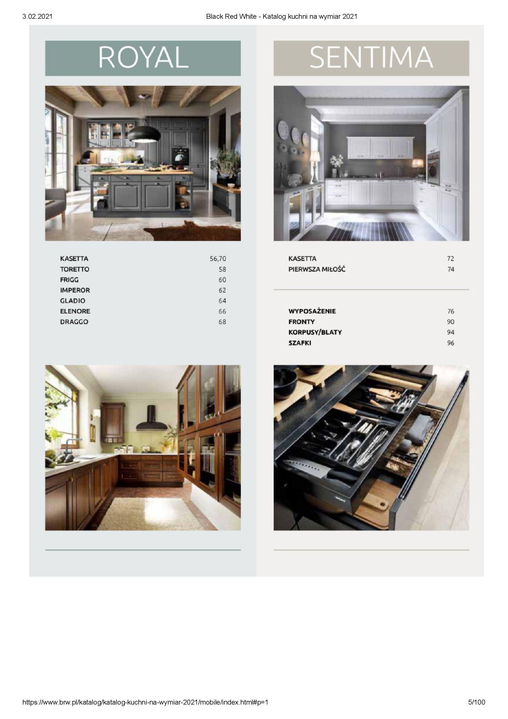 Gazetka Black Red White: Katalog - Kuchnie na wymiar Senso Kitchens 2021 2021-01-01 page-5