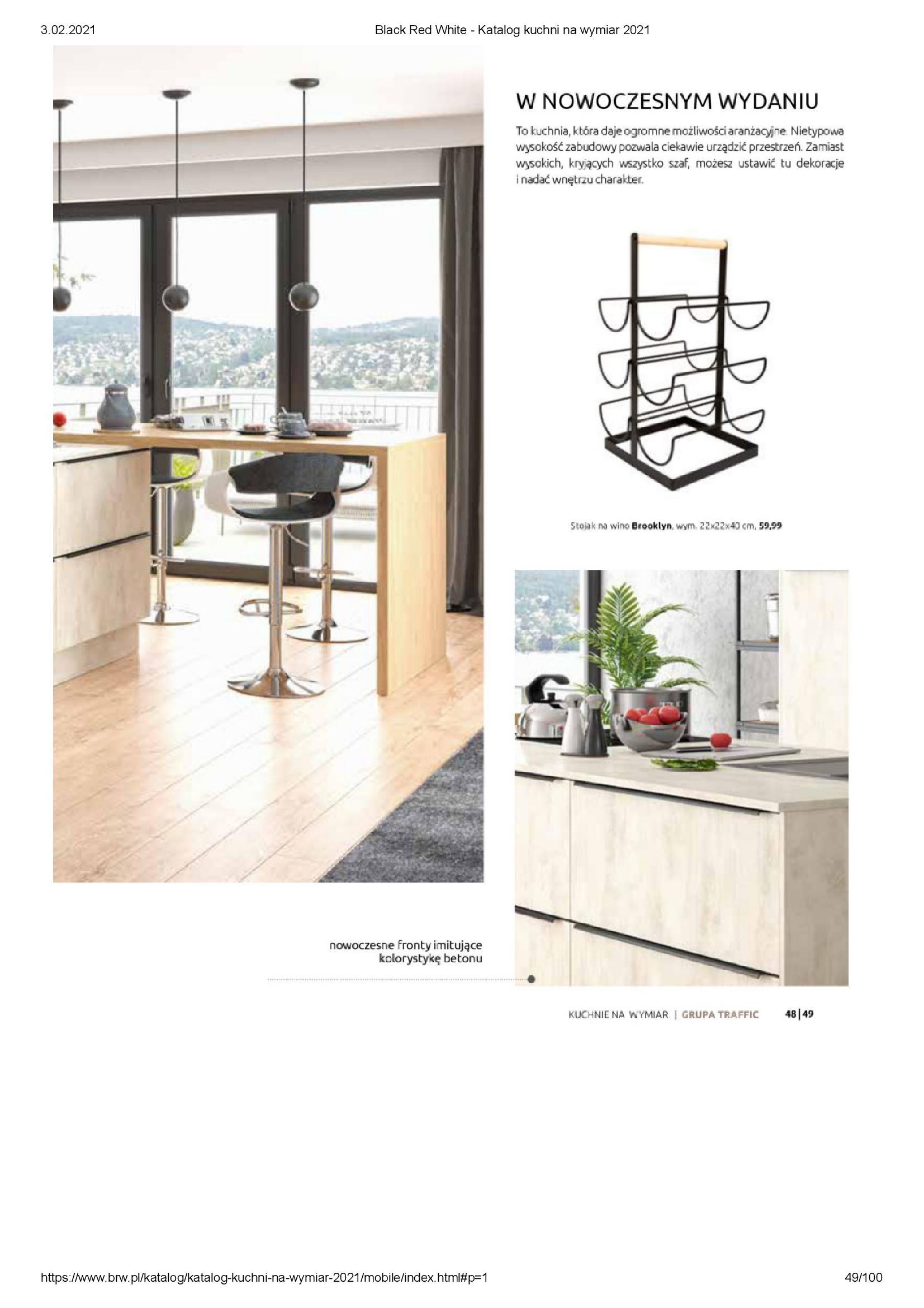 Gazetka Black Red White: Katalog - Kuchnie na wymiar Senso Kitchens 2021 2021-01-01 page-49