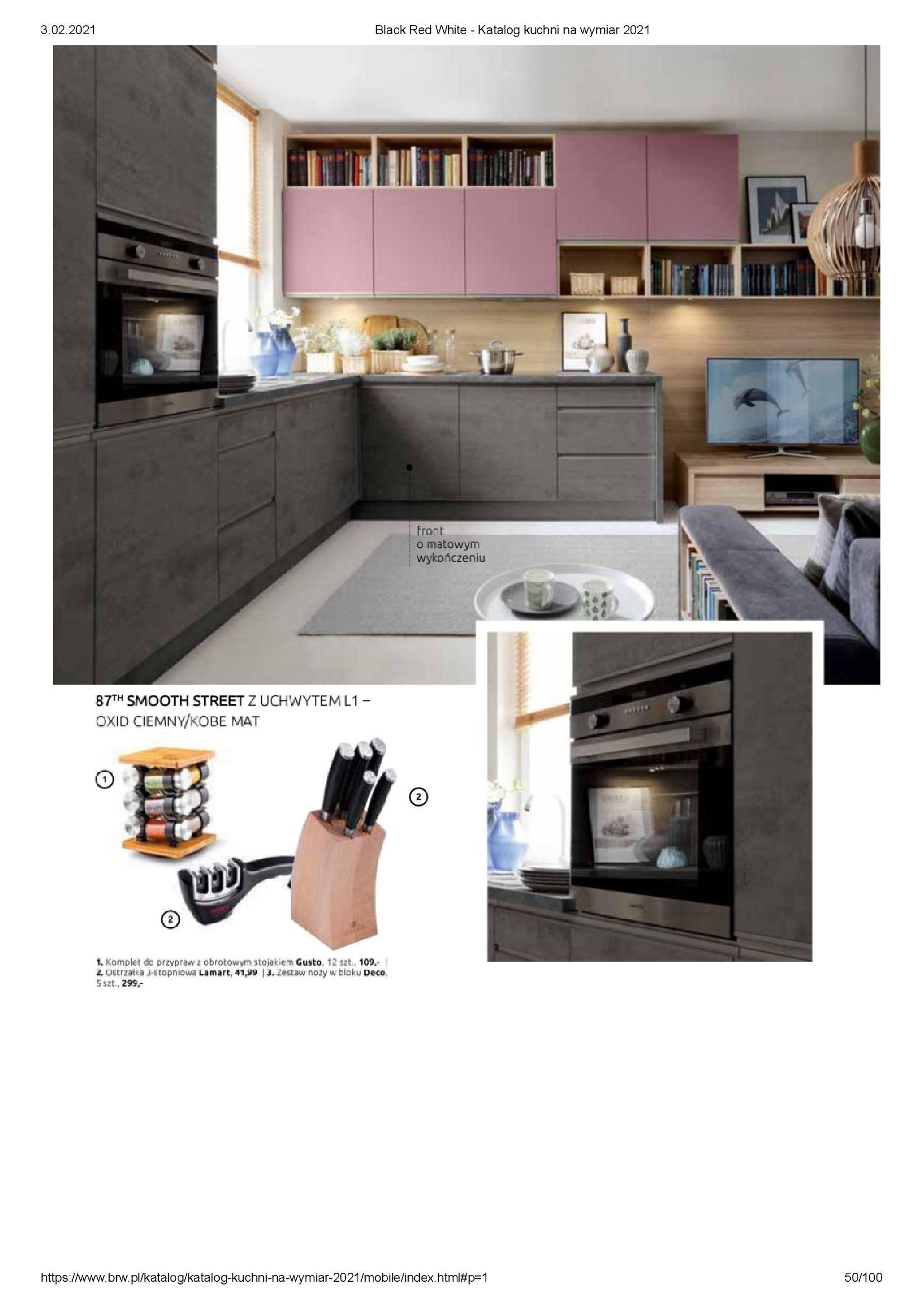 Gazetka Black Red White: Katalog - Kuchnie na wymiar Senso Kitchens 2021 2021-01-01 page-50