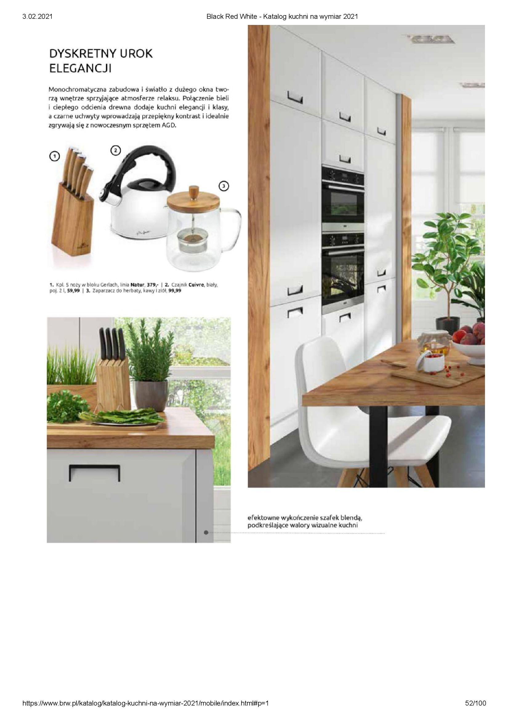 Gazetka Black Red White: Katalog - Kuchnie na wymiar Senso Kitchens 2021 2021-01-01 page-52