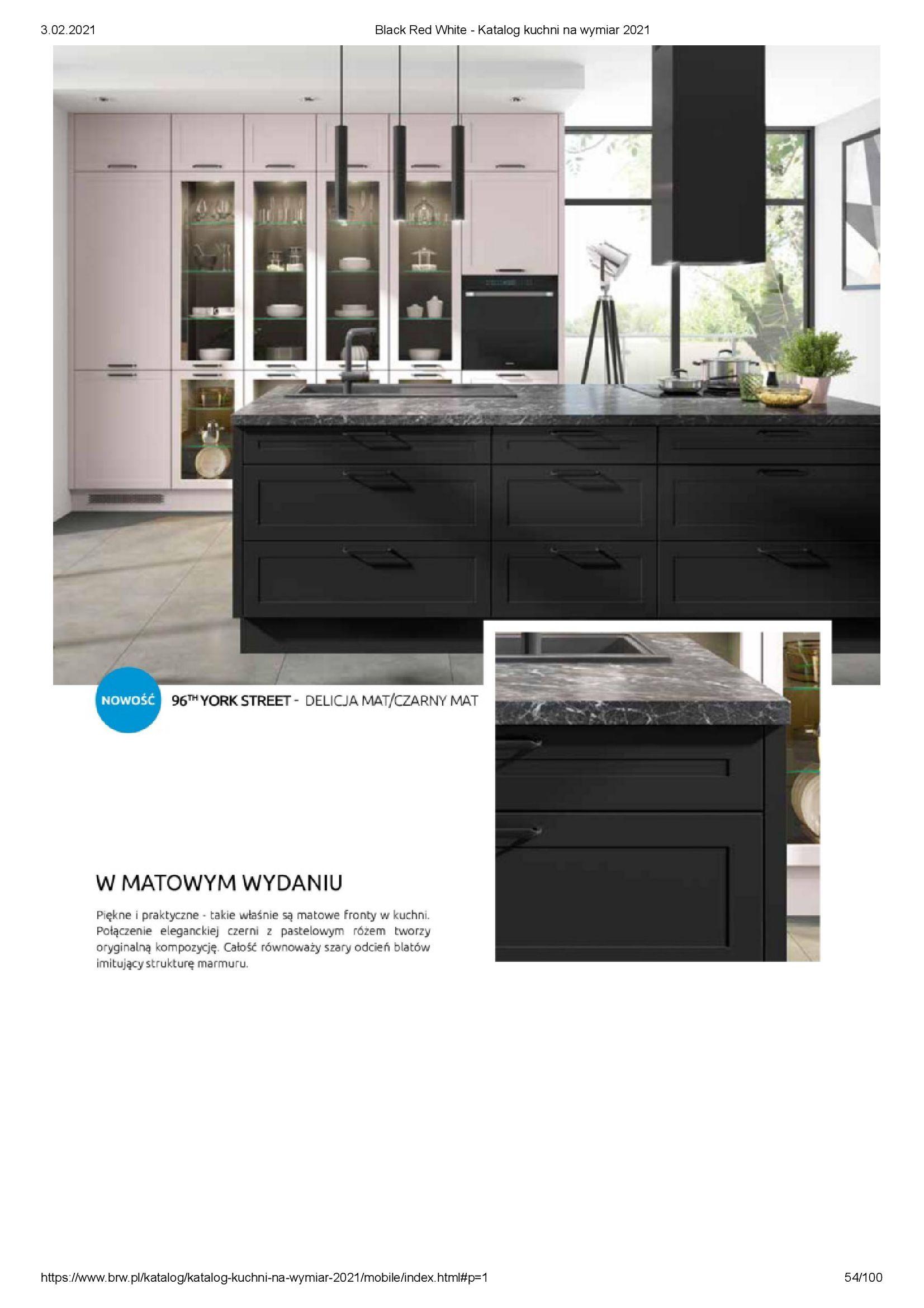 Gazetka Black Red White: Katalog - Kuchnie na wymiar Senso Kitchens 2021 2021-01-01 page-54