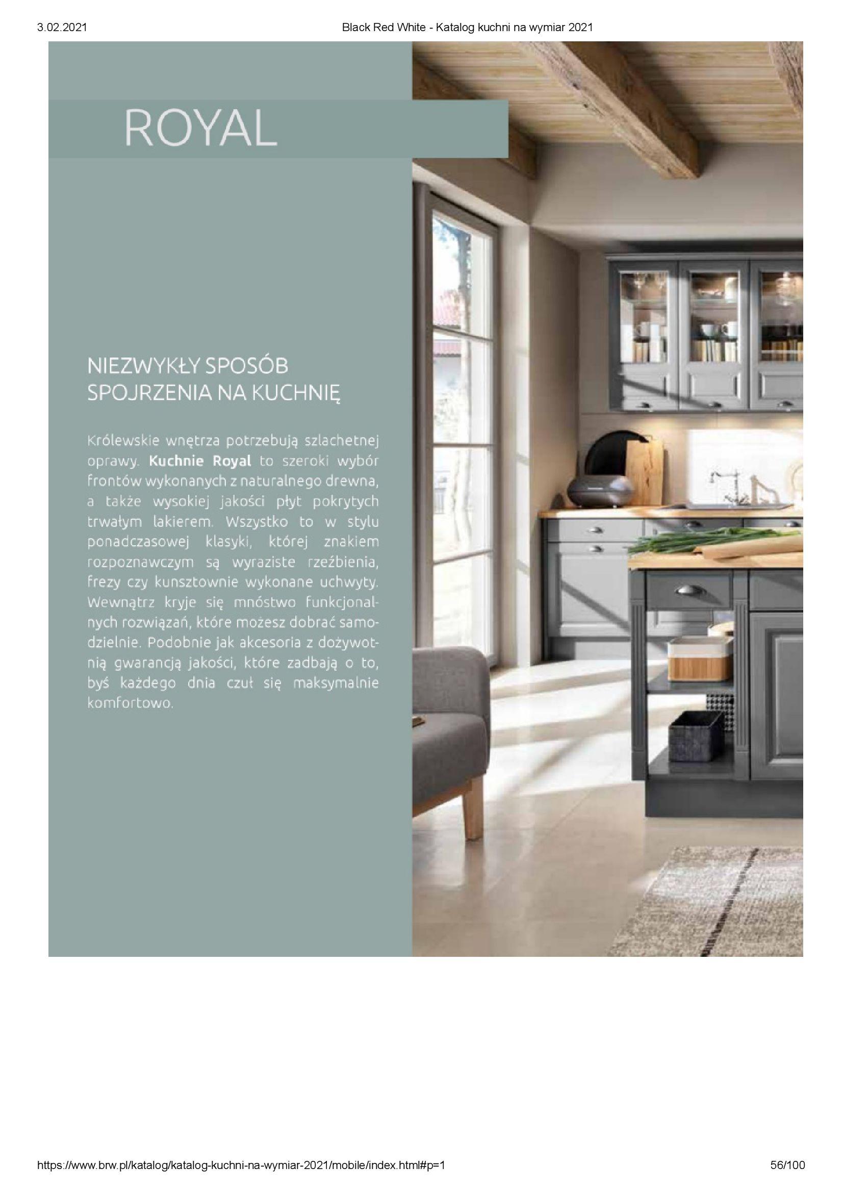 Gazetka Black Red White: Katalog - Kuchnie na wymiar Senso Kitchens 2021 2021-01-01 page-56