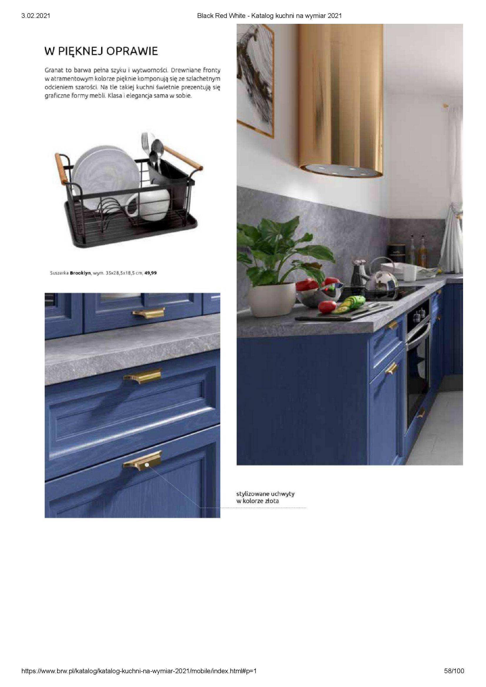 Gazetka Black Red White: Katalog - Kuchnie na wymiar Senso Kitchens 2021 2021-01-01 page-58