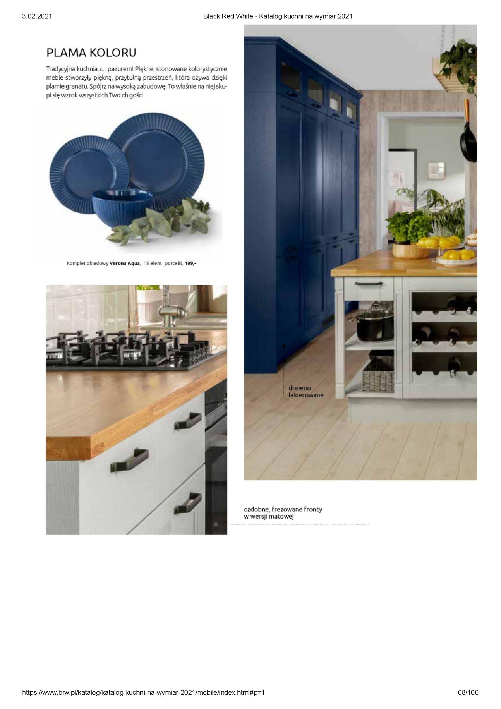 Gazetka Black Red White: Katalog - Kuchnie na wymiar Senso Kitchens 2021 2021-01-01 page-68