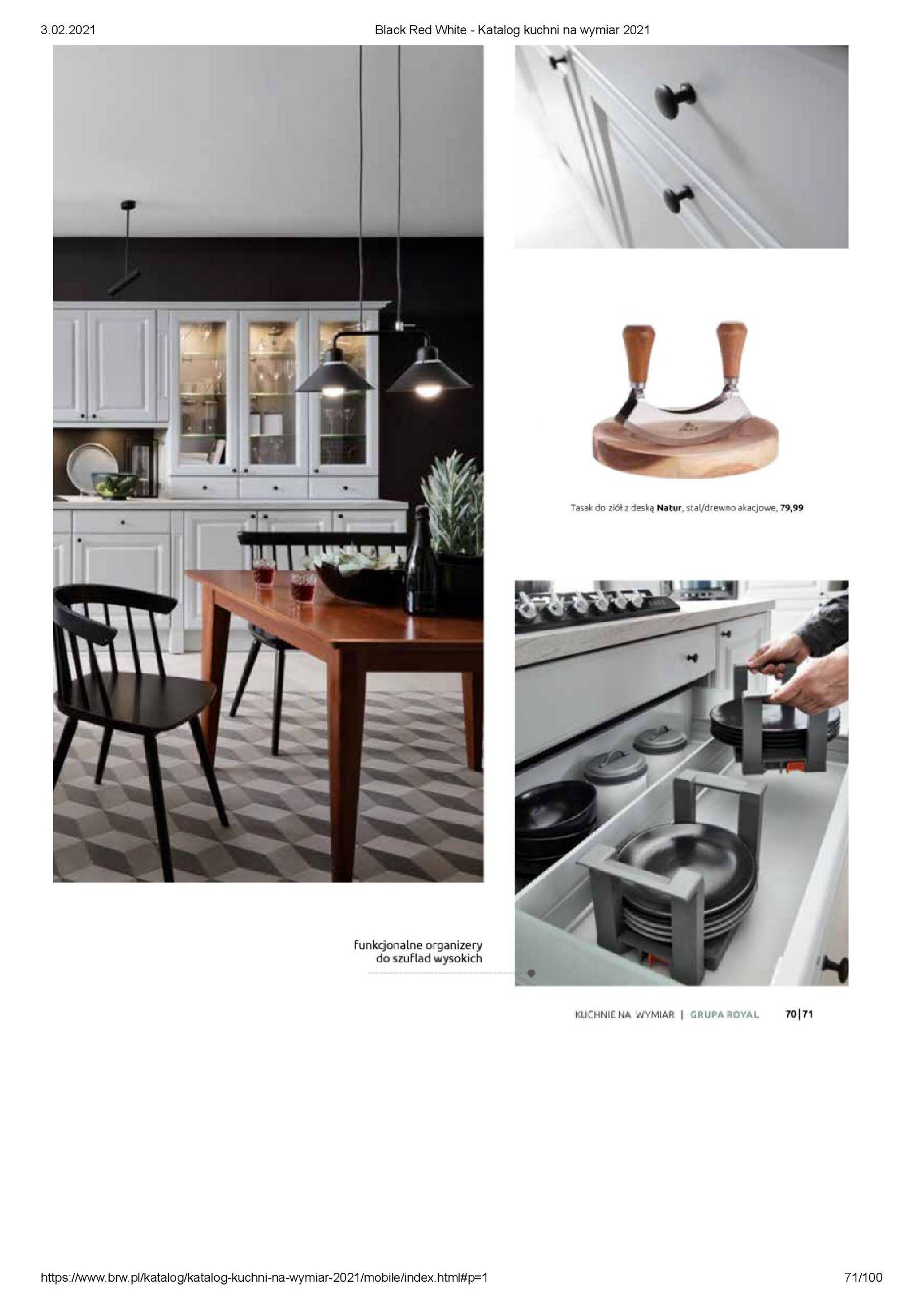 Gazetka Black Red White: Katalog - Kuchnie na wymiar Senso Kitchens 2021 2021-01-01 page-71