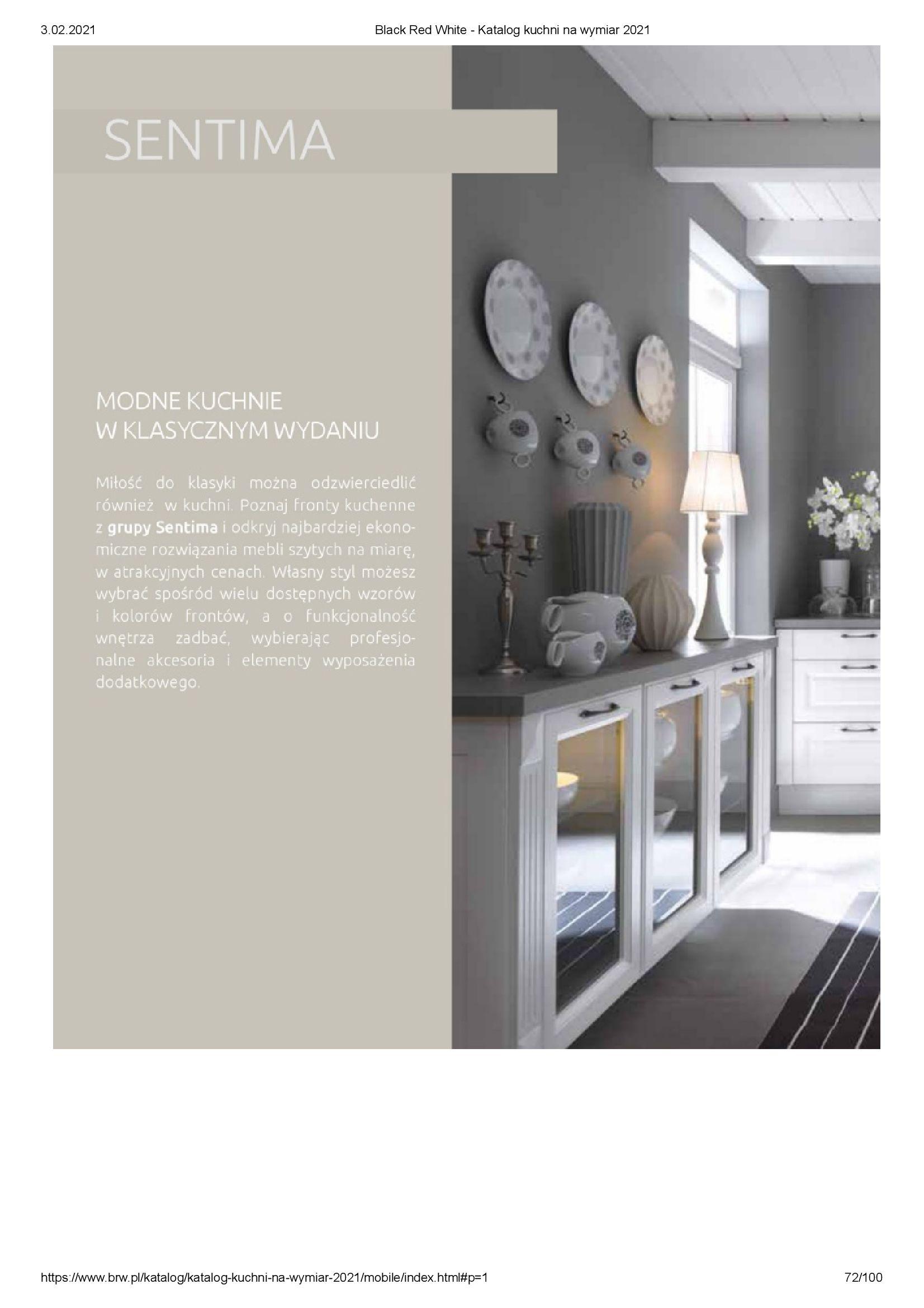 Gazetka Black Red White: Katalog - Kuchnie na wymiar Senso Kitchens 2021 2021-01-01 page-72