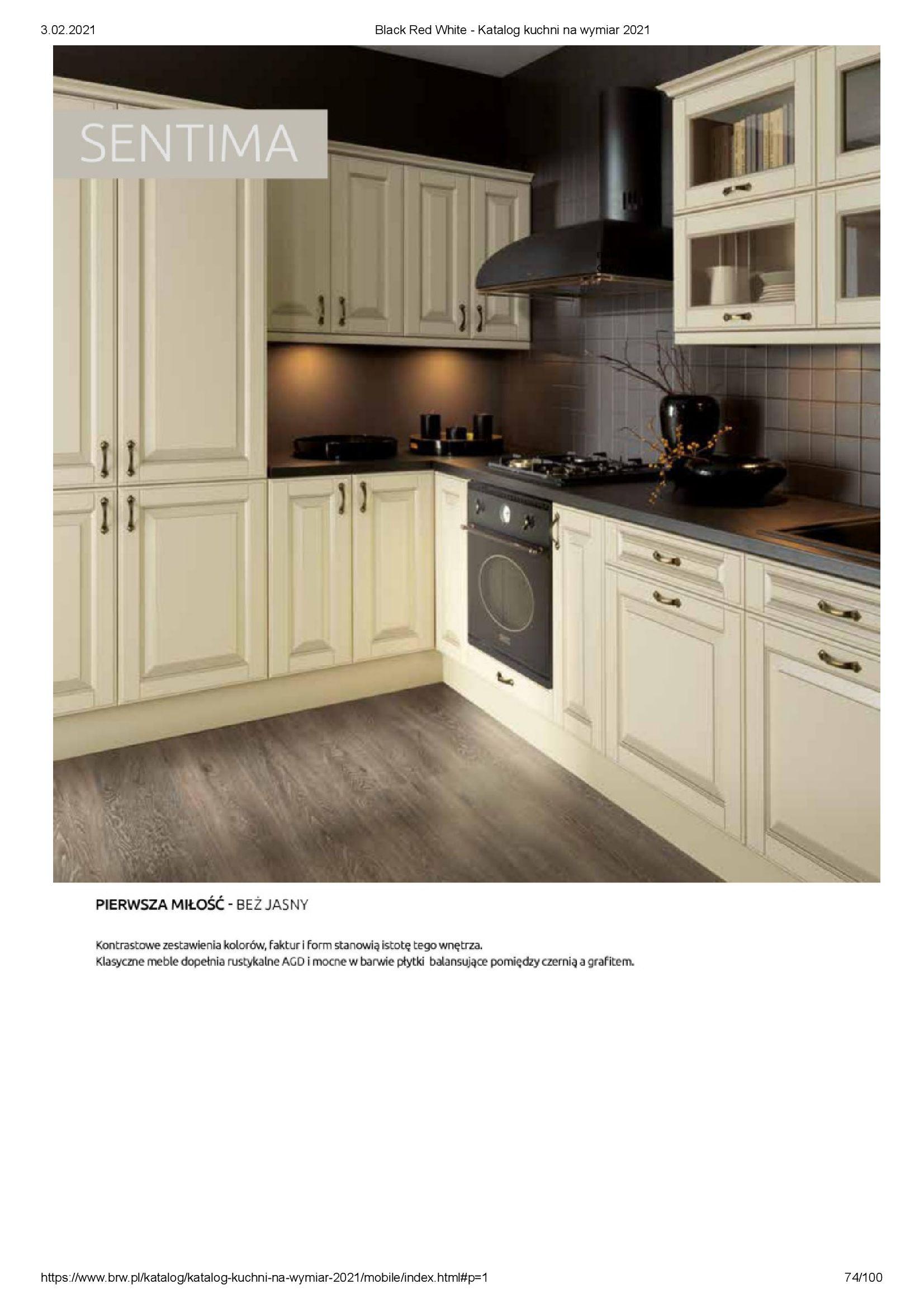 Gazetka Black Red White: Katalog - Kuchnie na wymiar Senso Kitchens 2021 2021-01-01 page-74