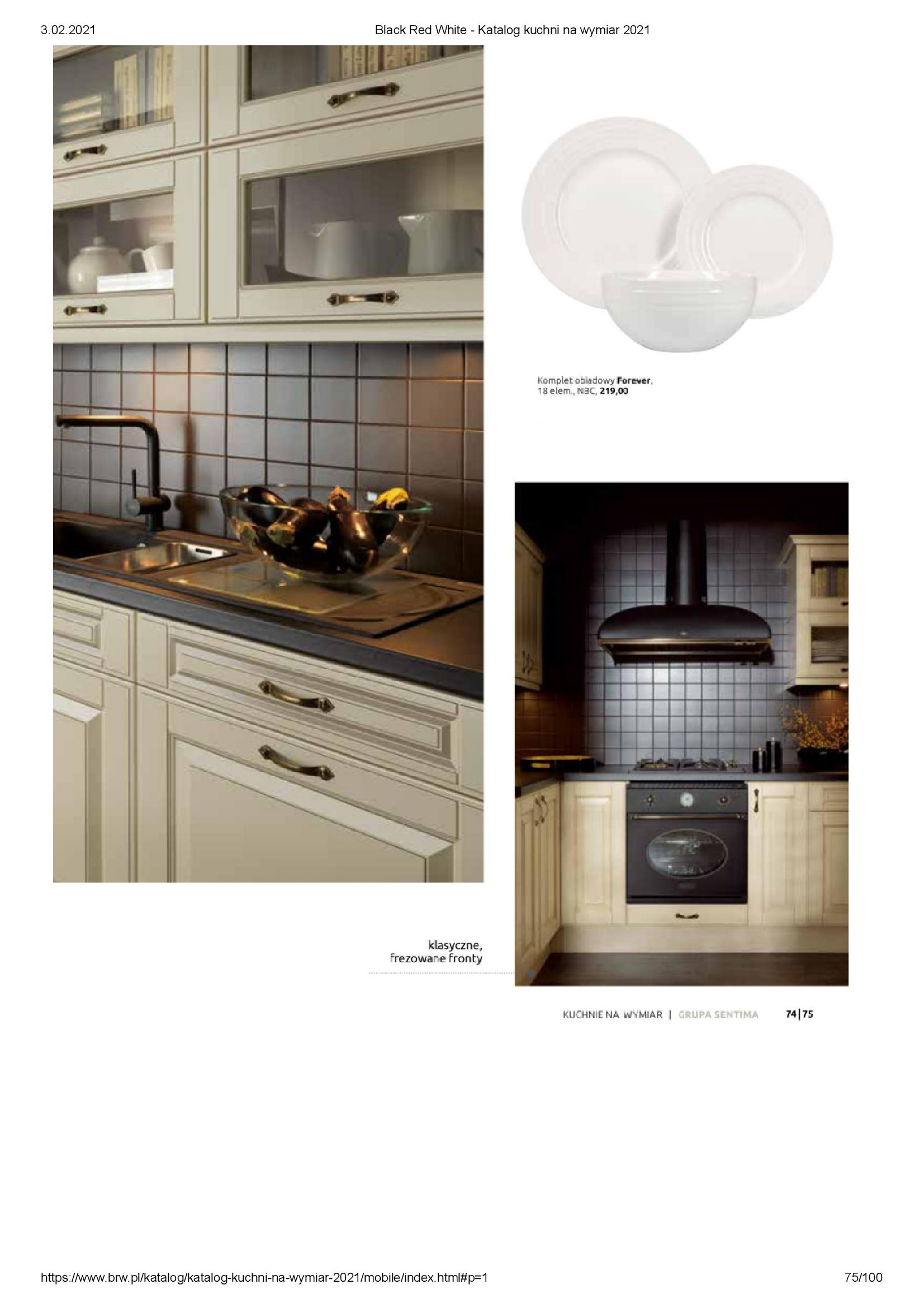 Gazetka Black Red White: Katalog - Kuchnie na wymiar Senso Kitchens 2021 2021-01-01 page-75