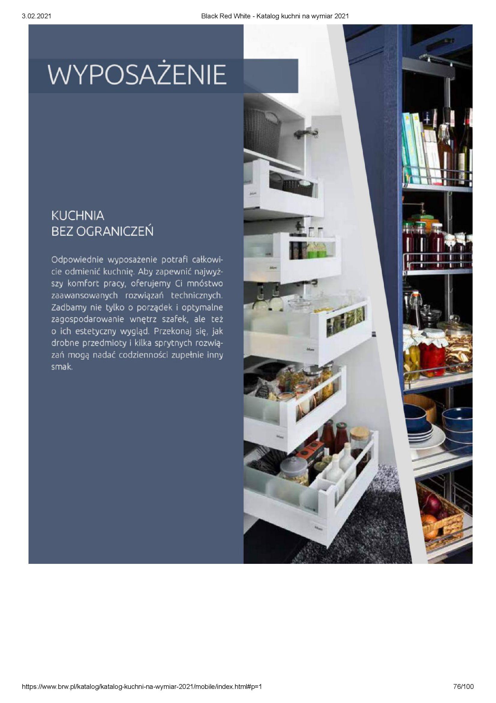 Gazetka Black Red White: Katalog - Kuchnie na wymiar Senso Kitchens 2021 2021-01-01 page-76